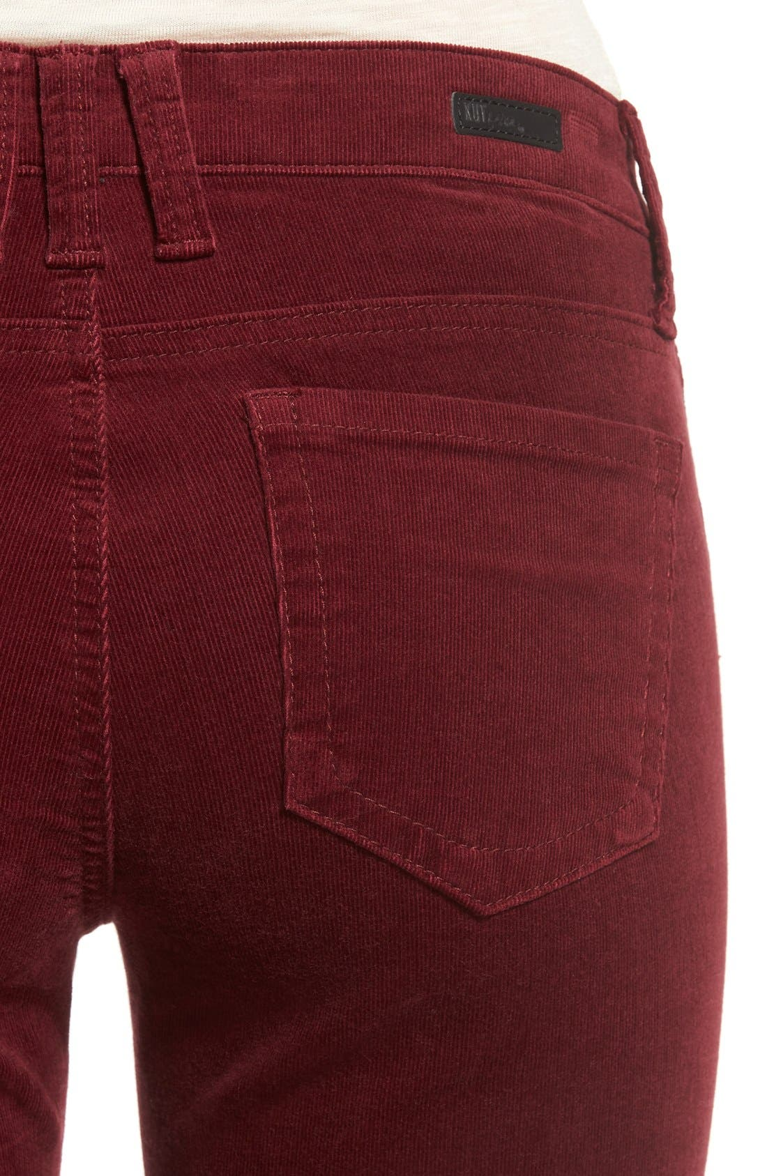 Alternate Image 4  - KUT from the Kloth Baby Bootcut Corduroy Jeans