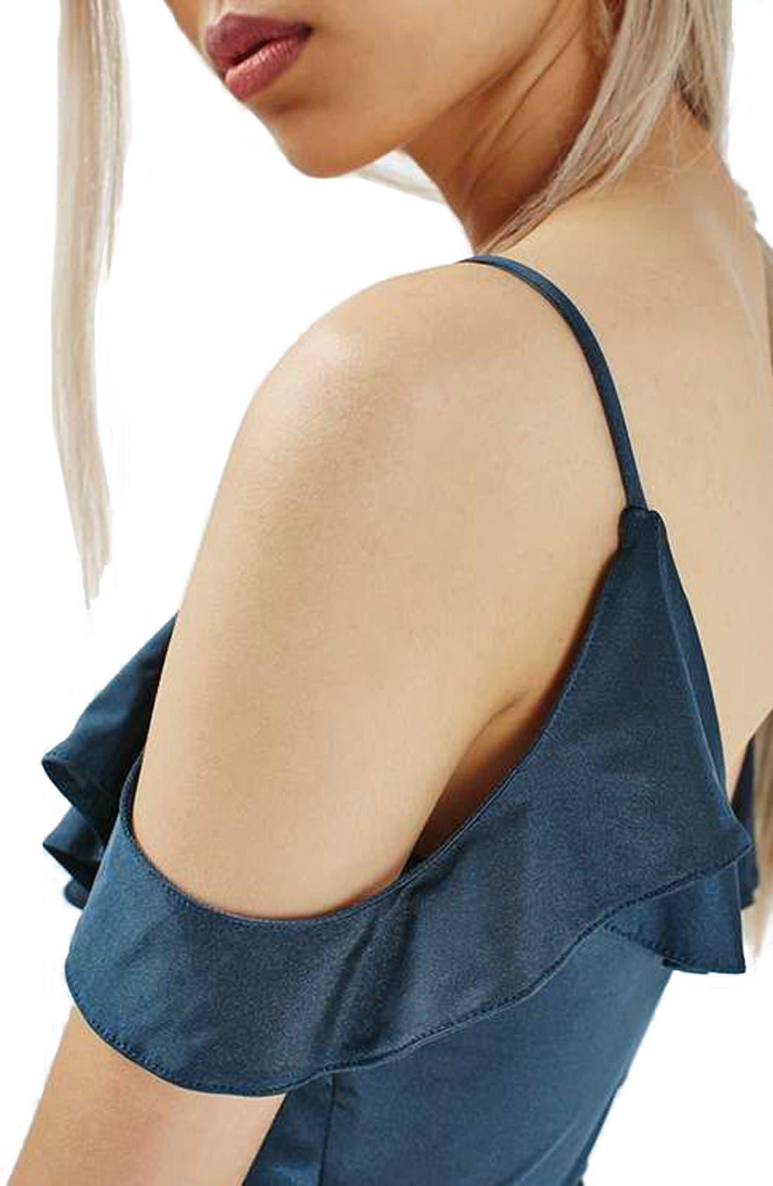 Alternate Image 5  - Topshop Ruffle Trim Cold Shoulder Bodysuit