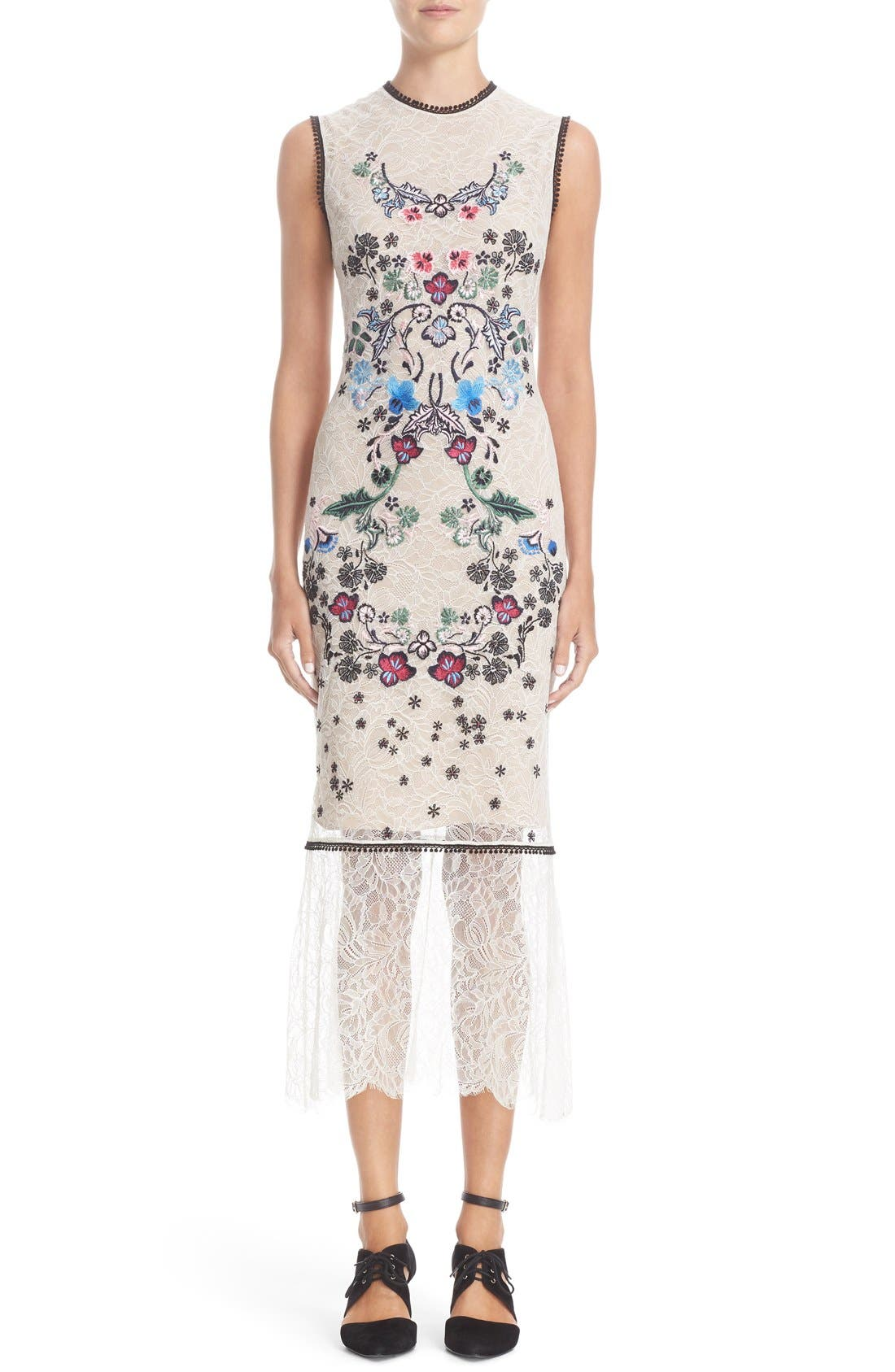 YIGAL AZROUËL Floral Embroidered Lace Dress