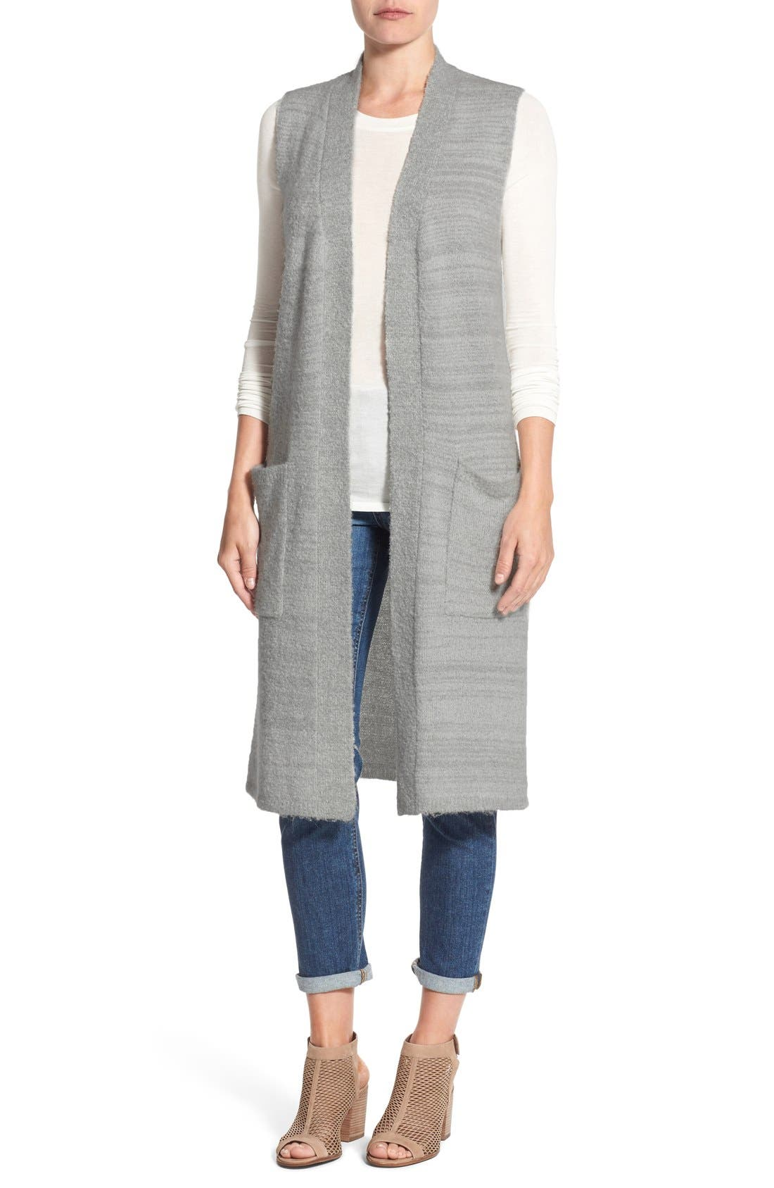 Main Image - Echo Knit Long Vest