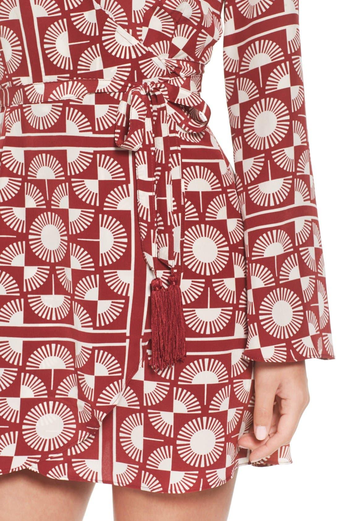 Alternate Image 4  - Stone Cold Fox 'Kai' Silk Wrap Dress