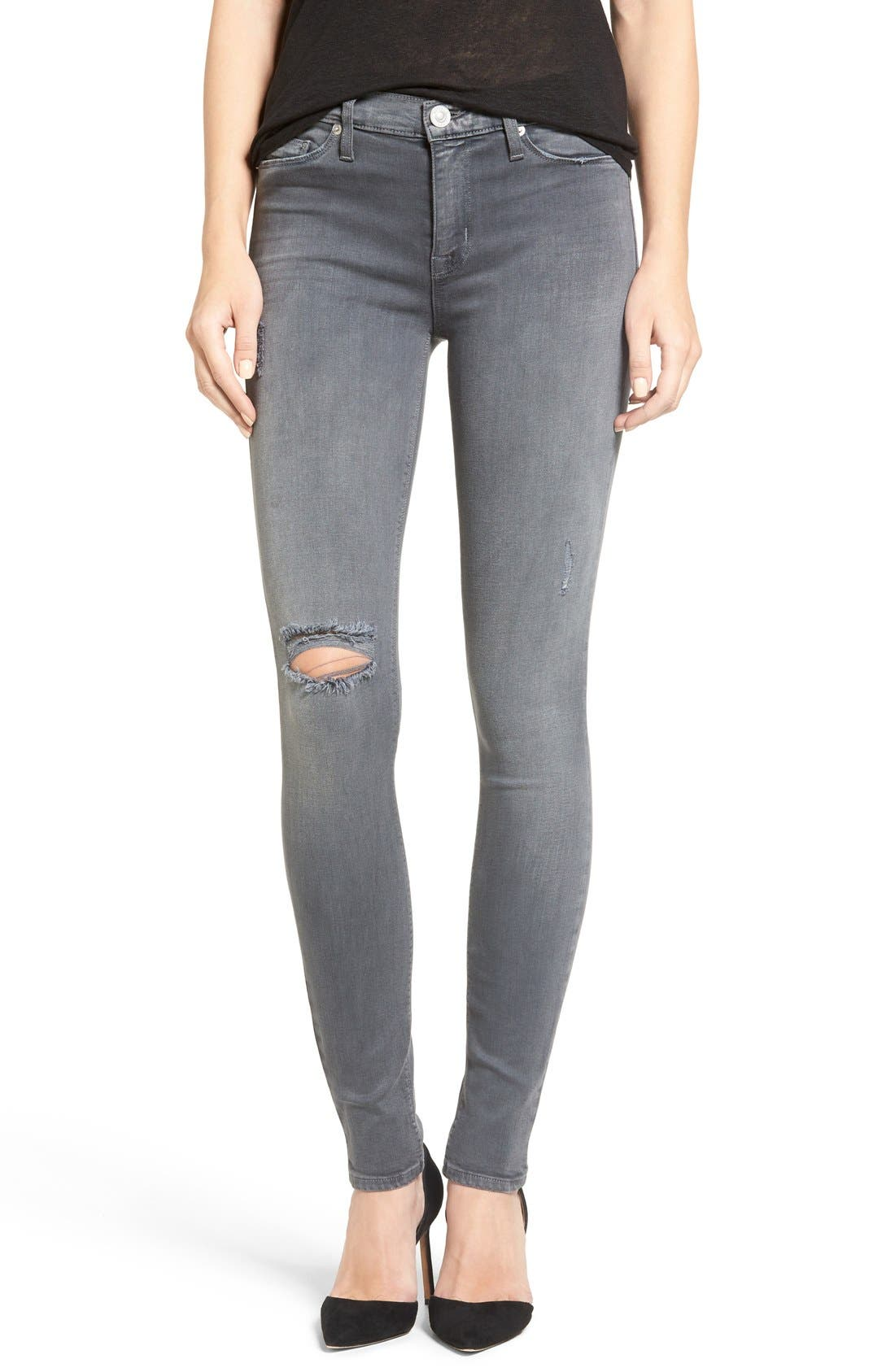 Hudson Jeans 'Nico' Ripped Super Skinny Jeans (Dark Skies 2 ...