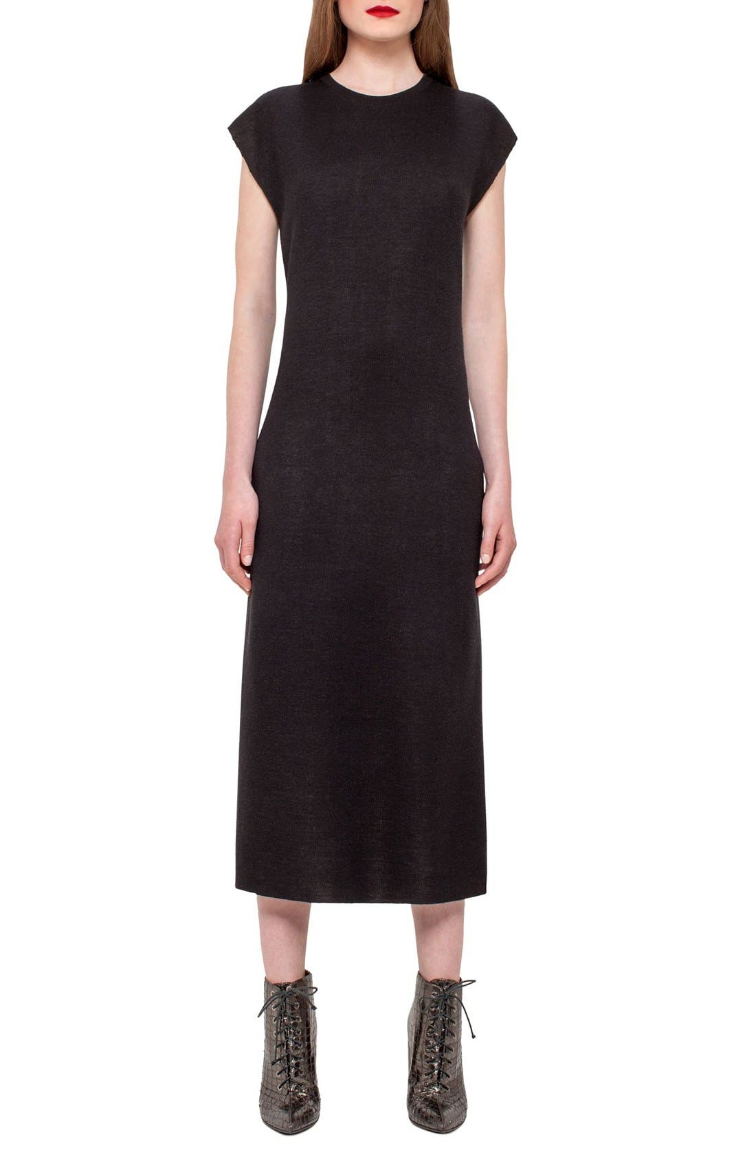 AKRIS Bicolor Cashmere & Silk Tunic Dress