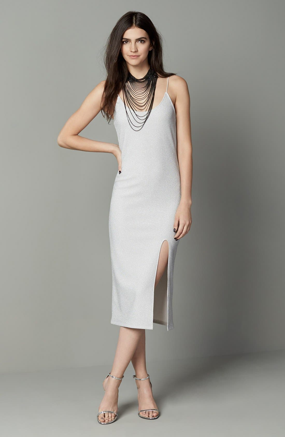 Alternate Image 2  - Topshop Scoop Neck Midi Dress