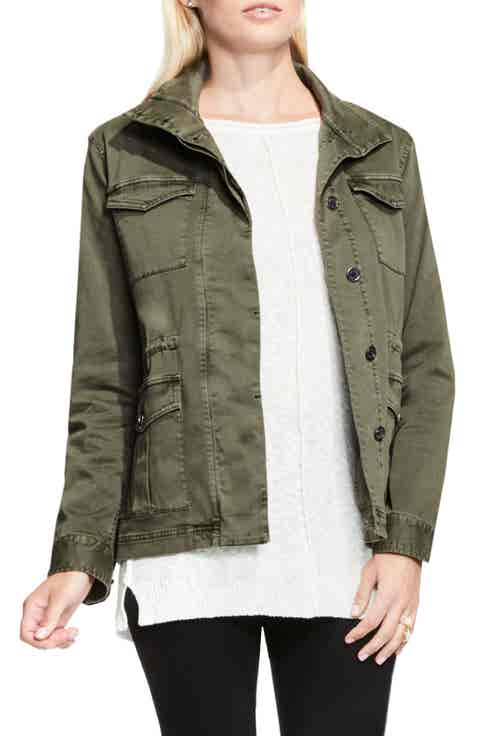 Two by Vince Camuto Stretch Sateen Cargo Jacket
