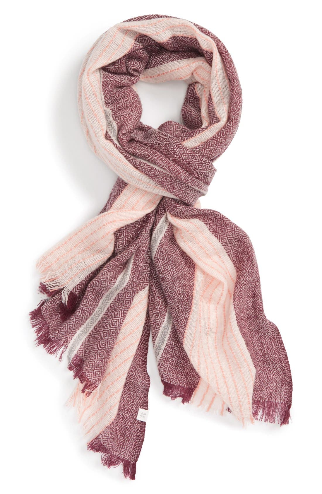 Alternate Image 1 Selected - Caslon® Stripe Wool Scarf