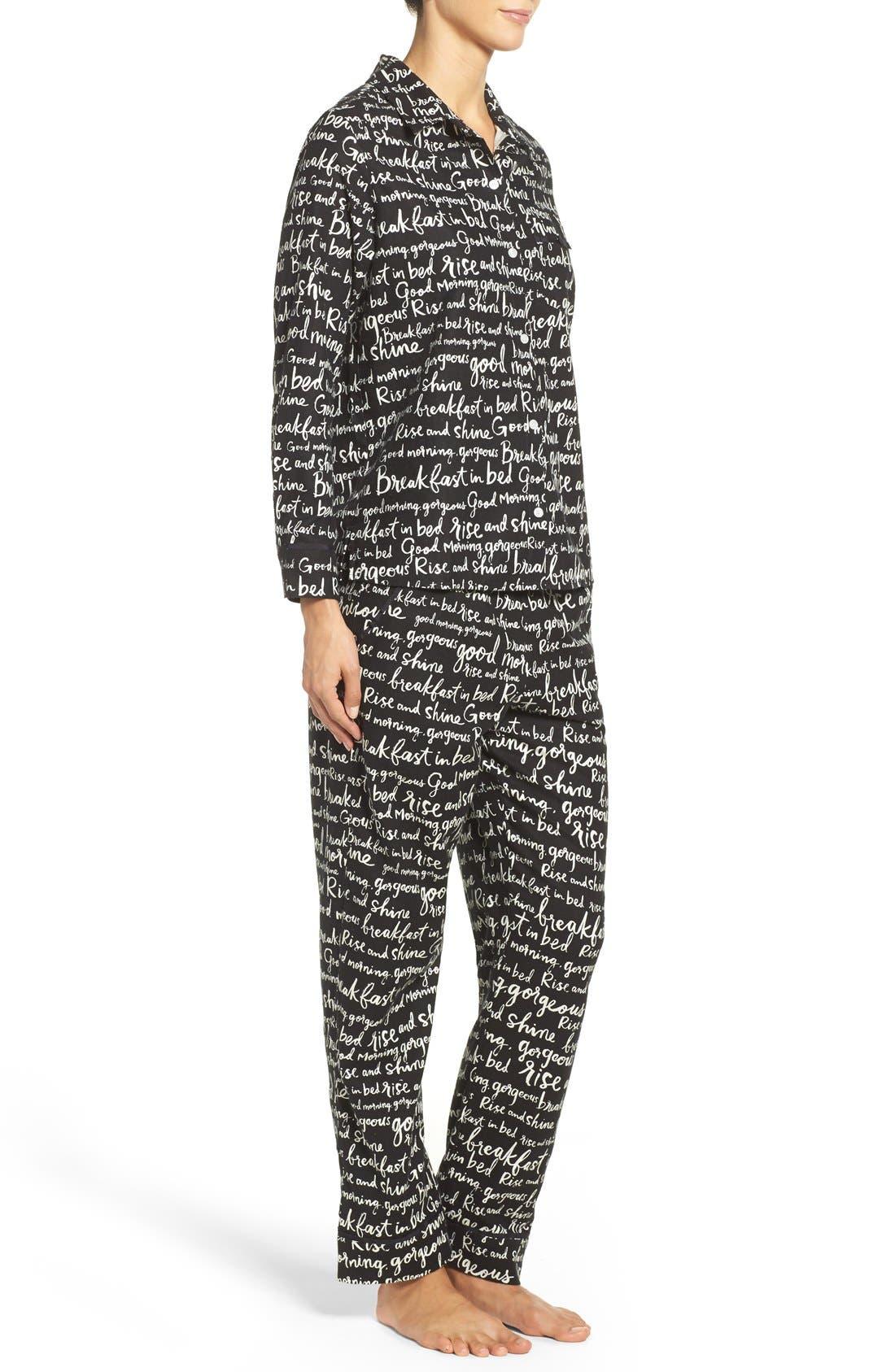 Alternate Image 4  - kate spade new york flannel pajamas