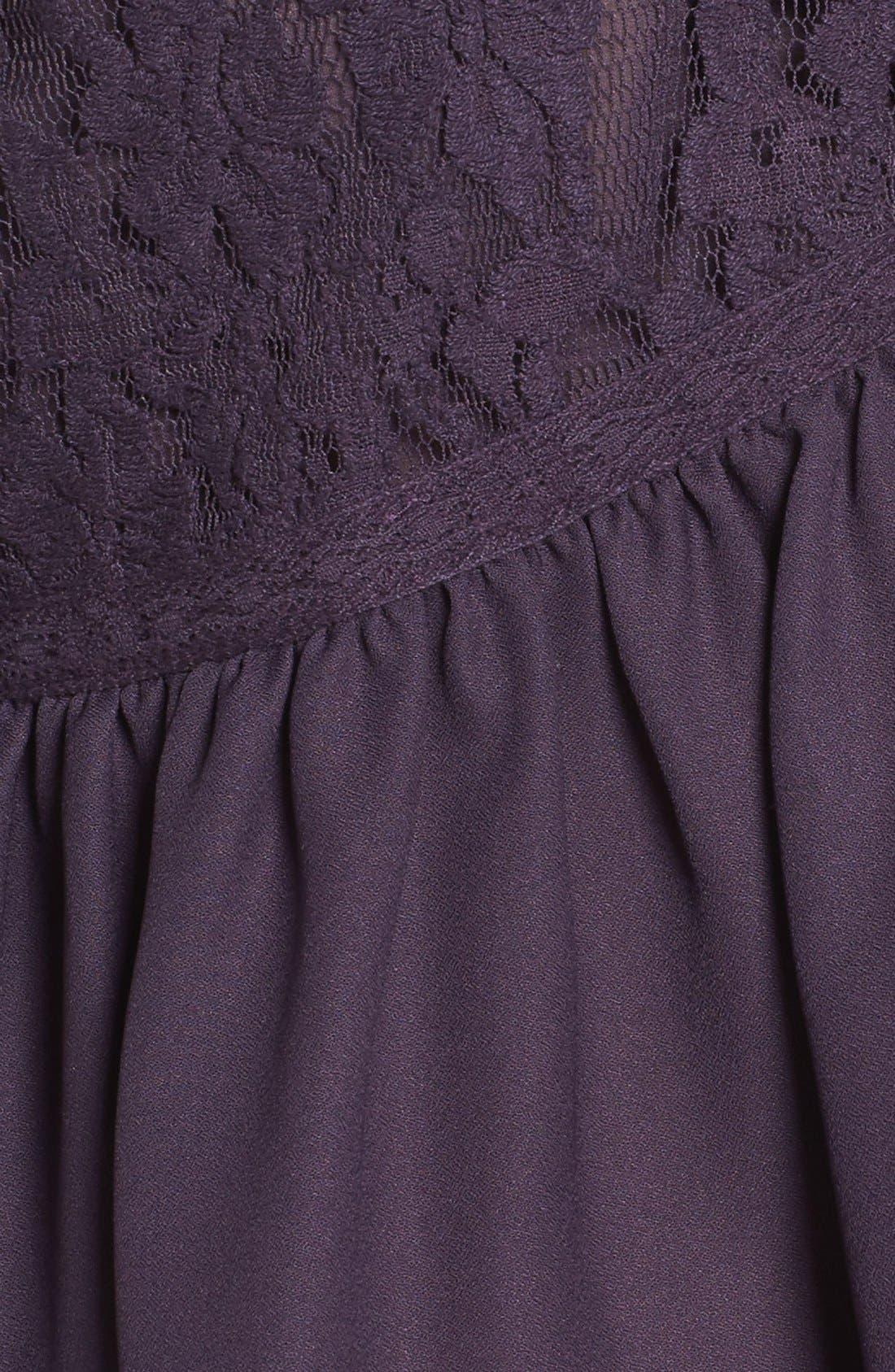Alternate Image 5  - Sun & Shadow Lace Inset Peplum Top