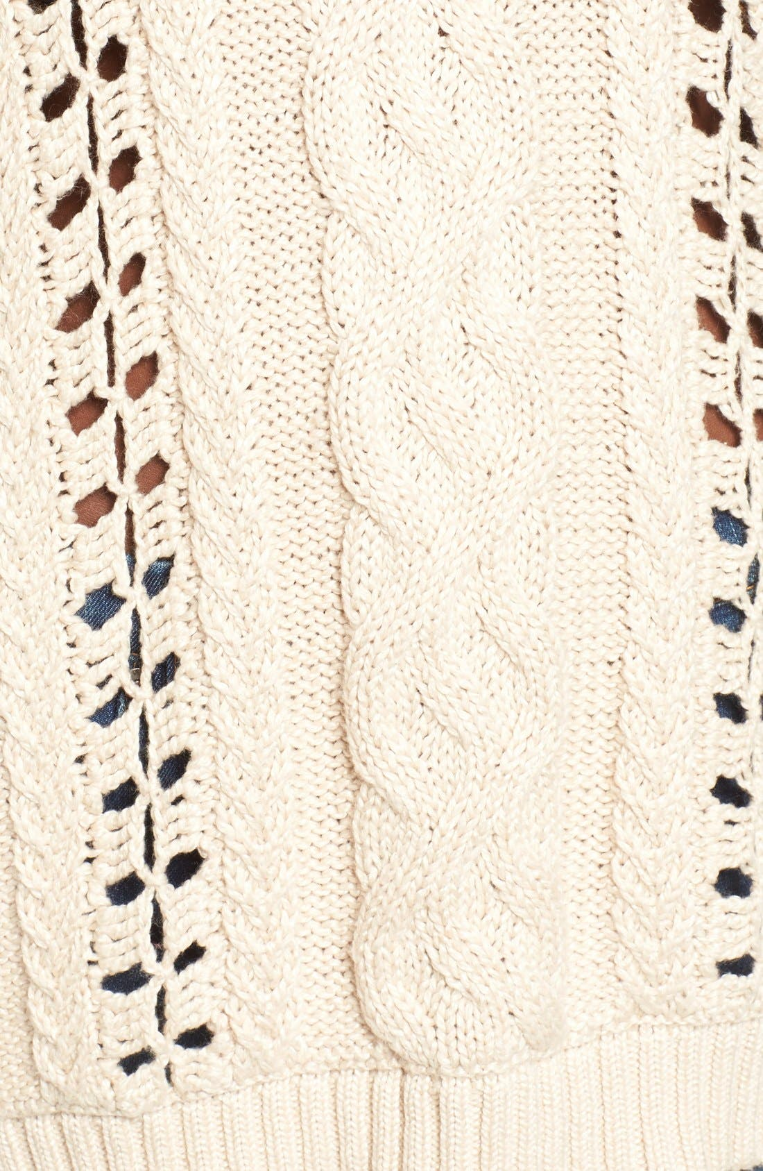 Alternate Image 4  - For Love & Lemons Wythe Cable Knit Sweater