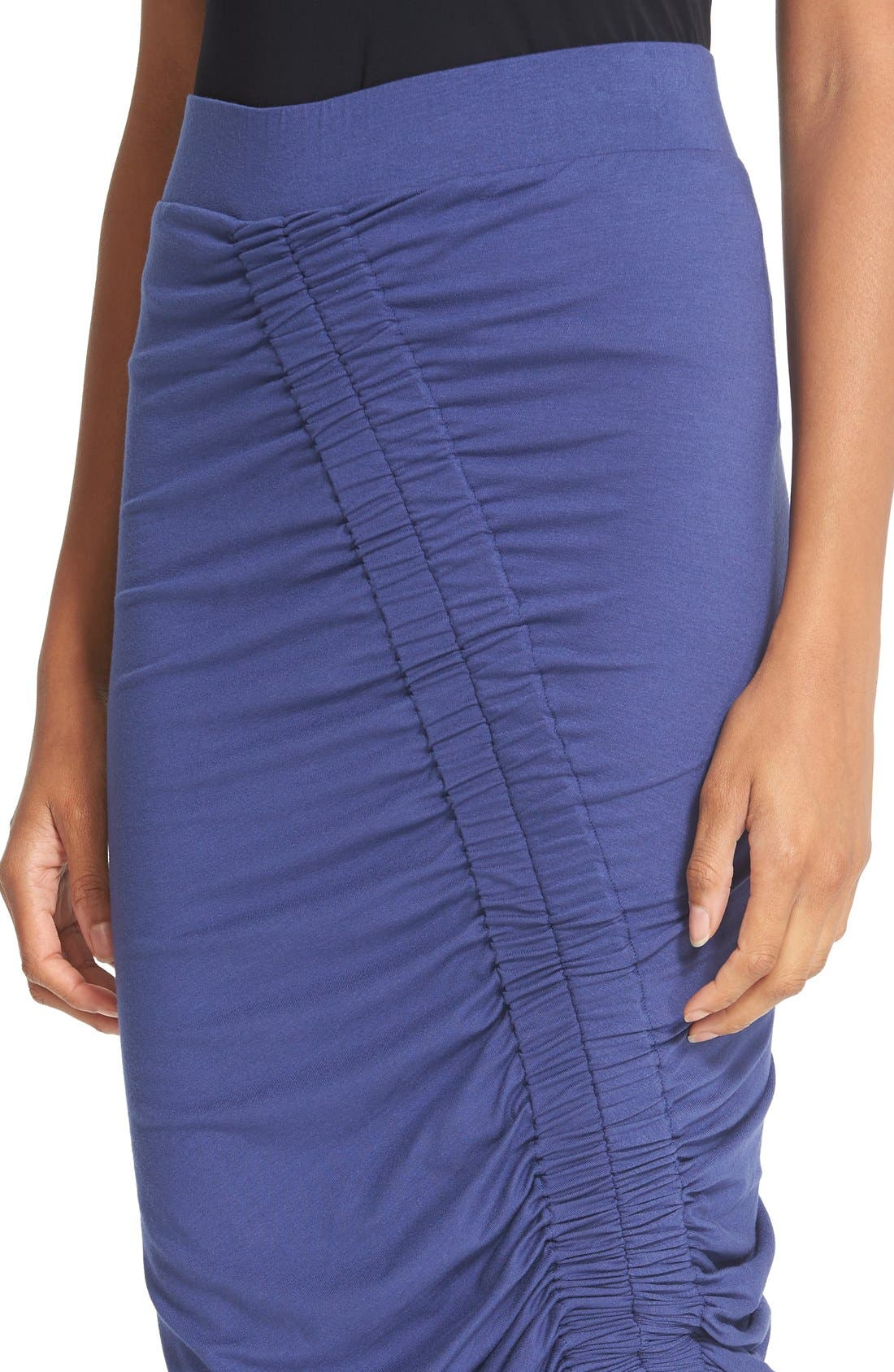 Alternate Image 6  - Zero + Maria Cornejo 'Kia' Ruched Sim Jersey Skirt