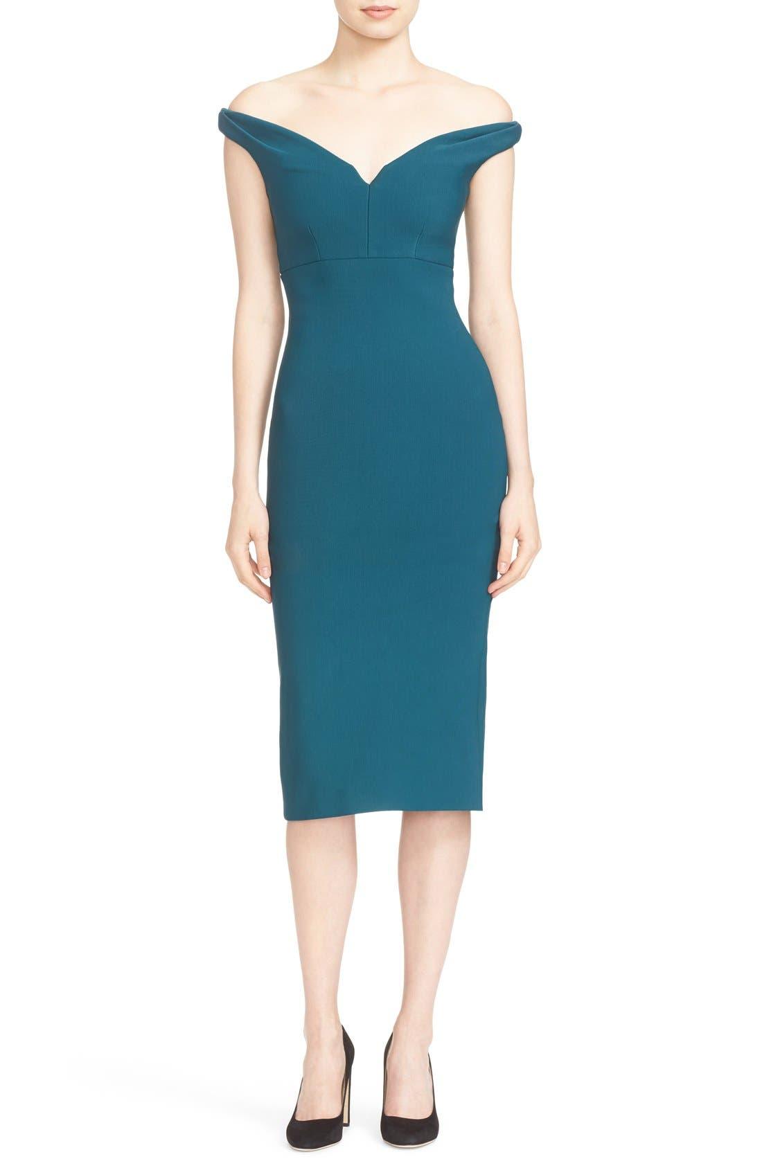 Main Image - Cinq à Sept Garnet Off the Shoulder Dress