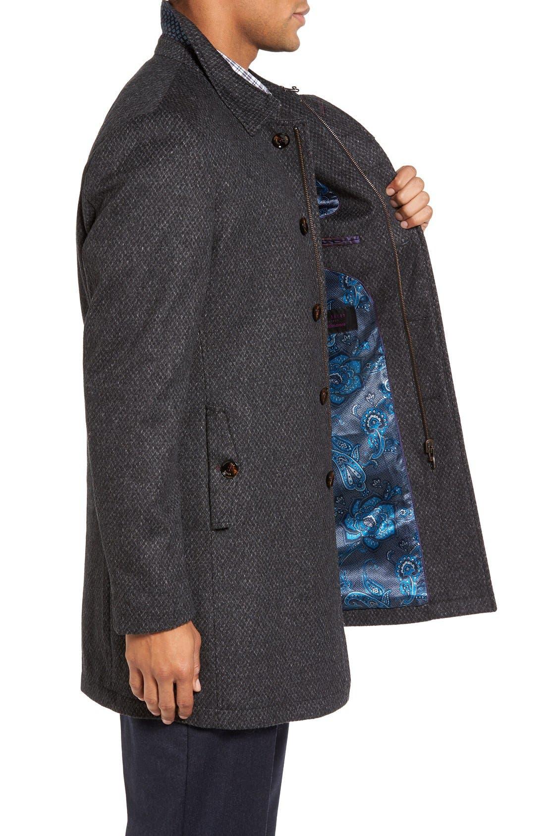 Alternate Image 3  - Ted Baker London Arizona Wool Blend Overcoat