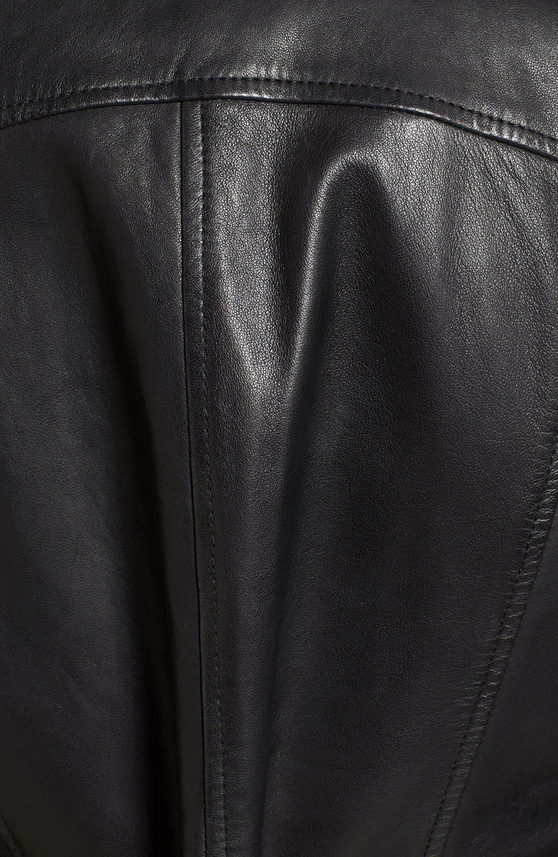 Alternate Image 5  - Bernardo Kirwin Leather Jacket (Regular & Petite)