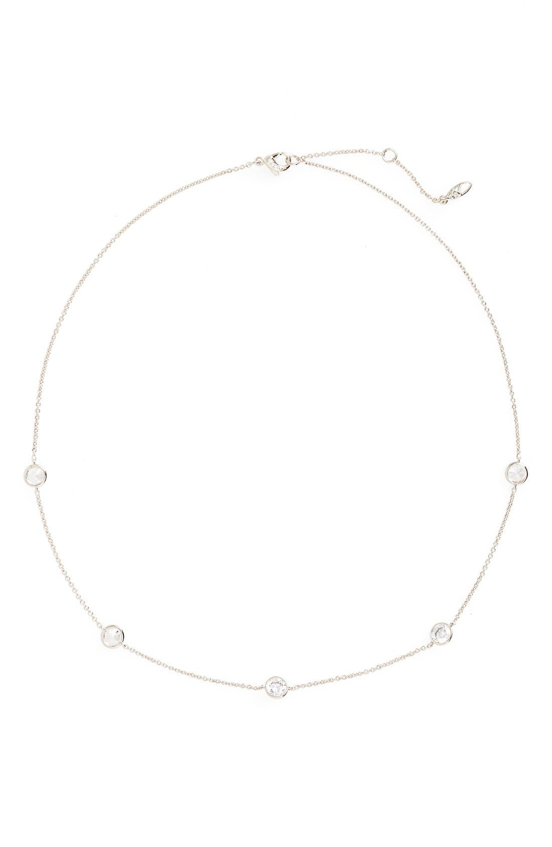 Nadri Cubic Zirconia Bezel Station Necklace