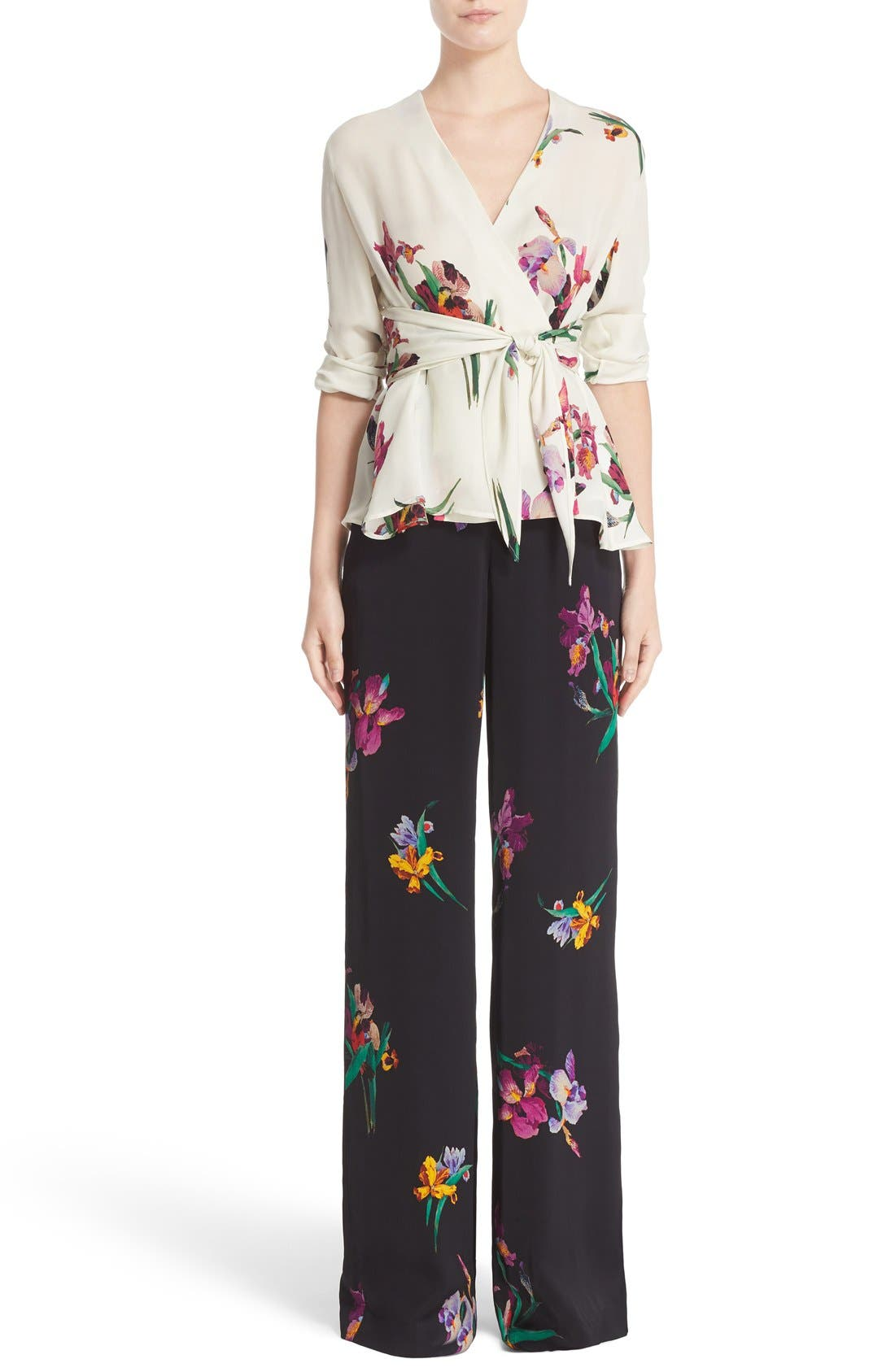 Alternate Image 7  - Etro Floral & Bird Print Silk Wrap Blouse