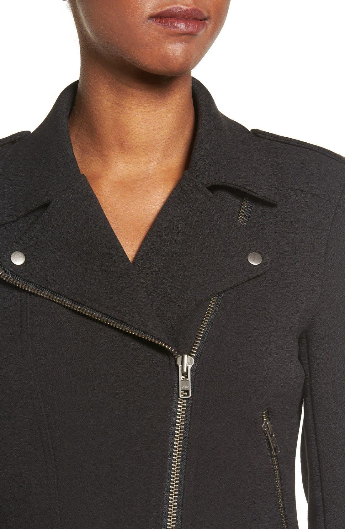 Alternate Image 4  - Catherine Catherine Malandrino Knit Moto Jacket