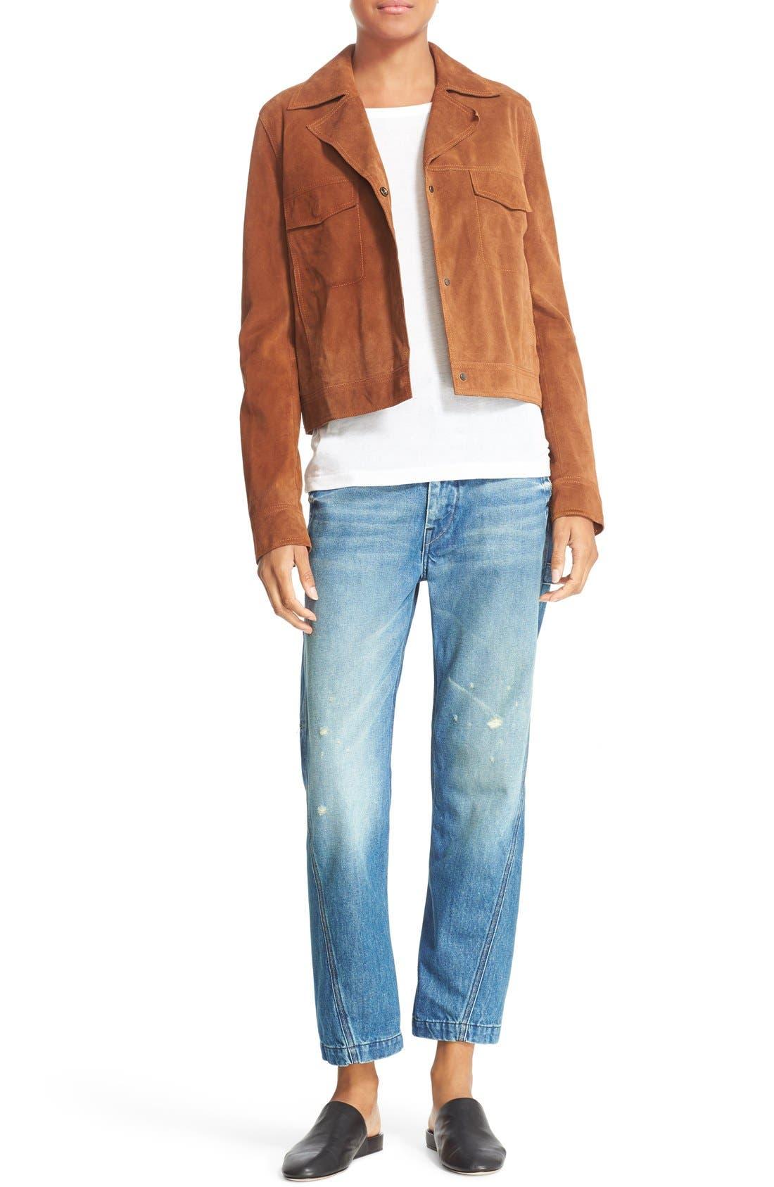Alternate Image 2  - Vince Suede Jean Moto Jacket