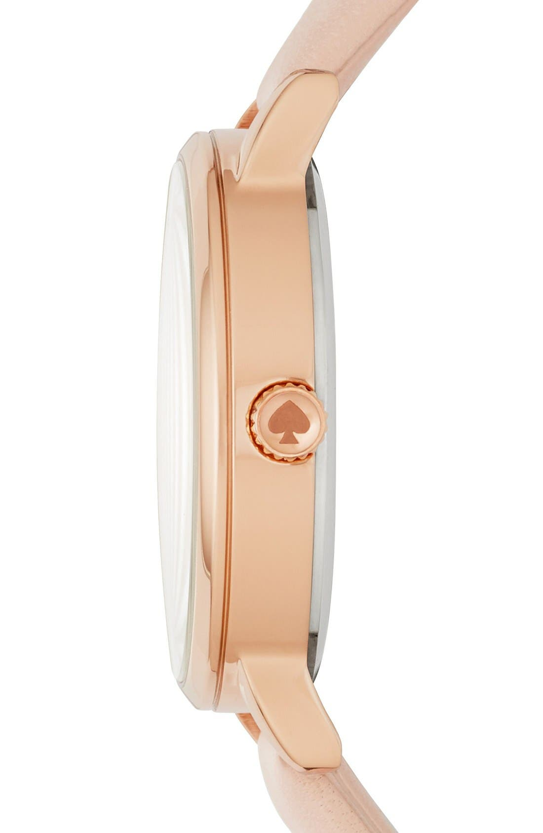 Alternate Image 2  - kate spade new york metro mother-of-pearl heart watch, 34mm