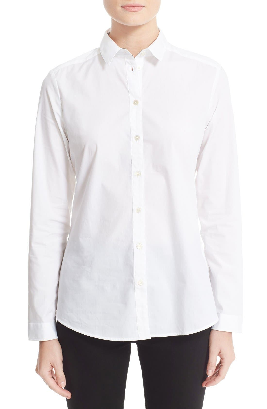 BURBERRY Stretch Poplin Shirt