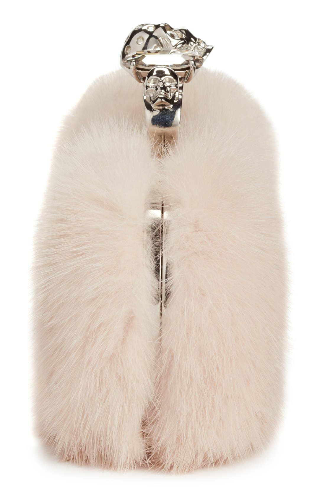 Alternate Image 4  - Alexander McQueen Knuckle Clasp Genuine Mink Fur Box Clutch