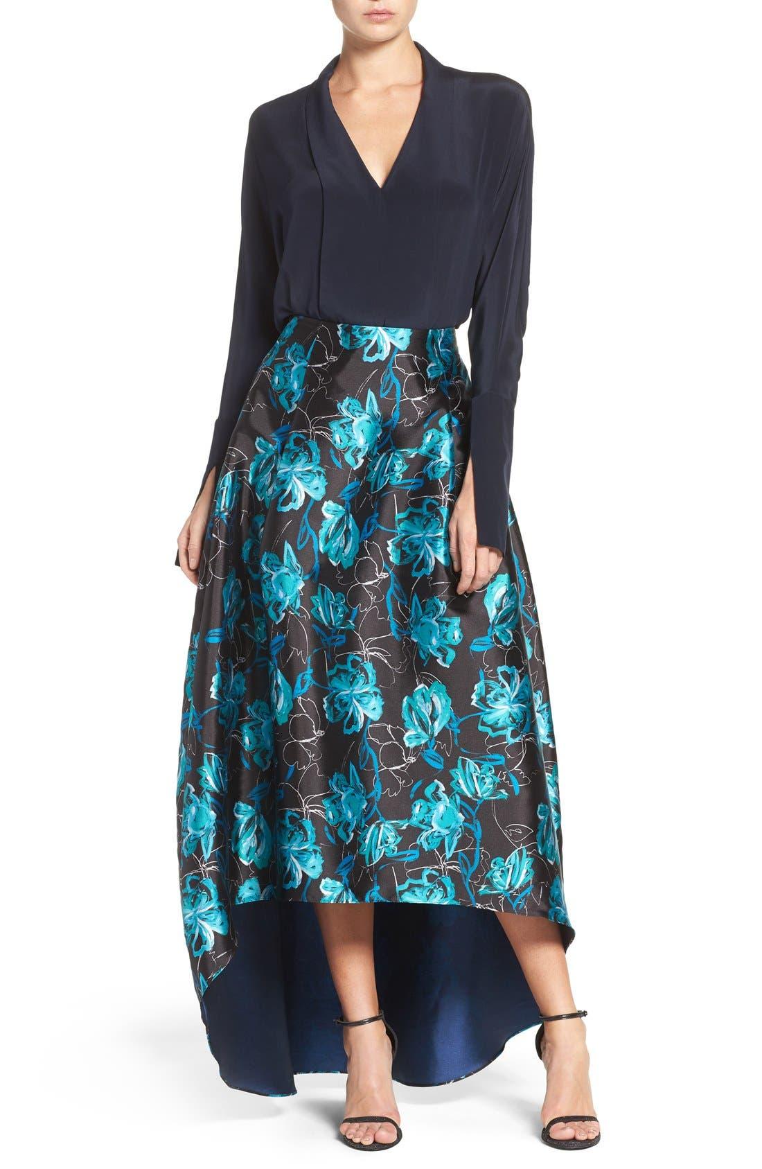 Alternate Image 7  - Sachin & Babi Noir 'Avalon' High/Low Jacquard Ball Skirt