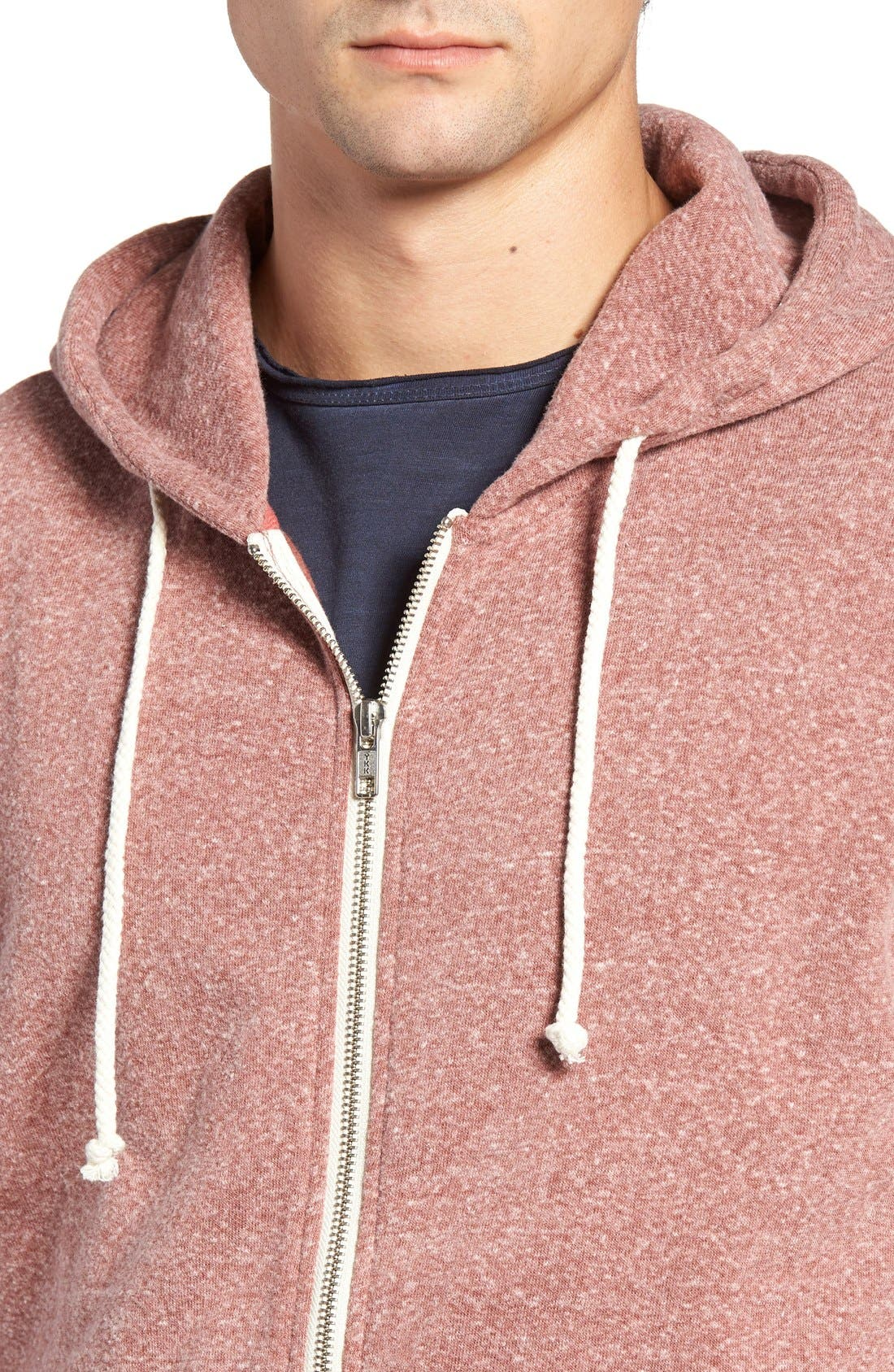 Alternate Image 4  - Threads for Thought Trim Fit Heathered Hoodie