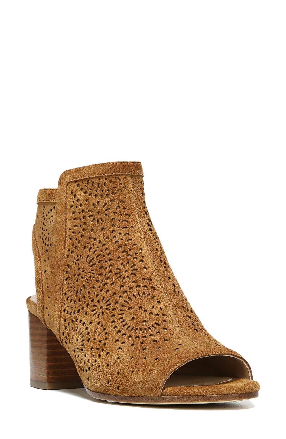 Via Spiga Jorie Perforated Peep Toe Sandal (Women)