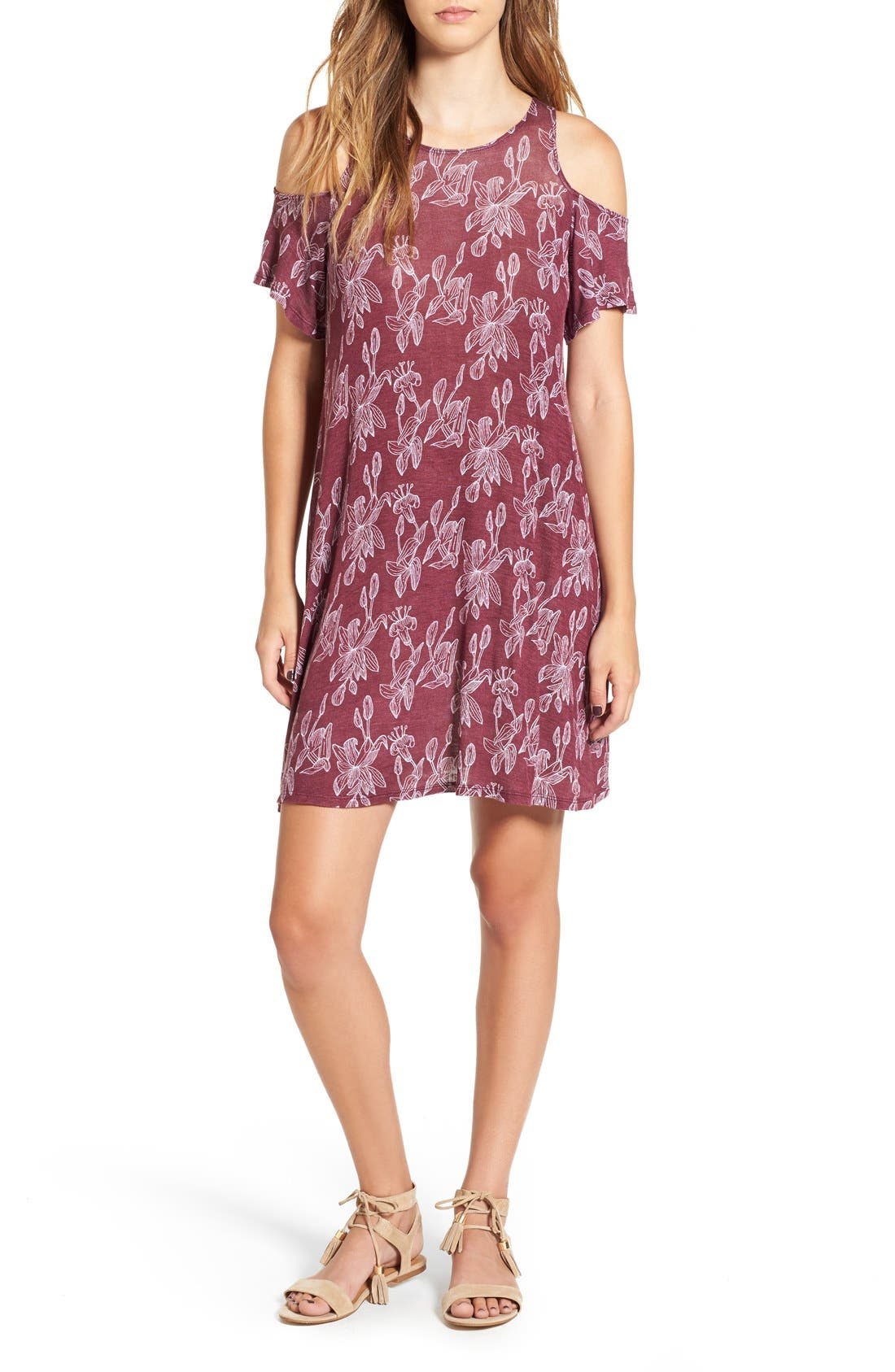 Main Image - Michelle by Comune 'Walthamstow' Floral Print Shift Dress