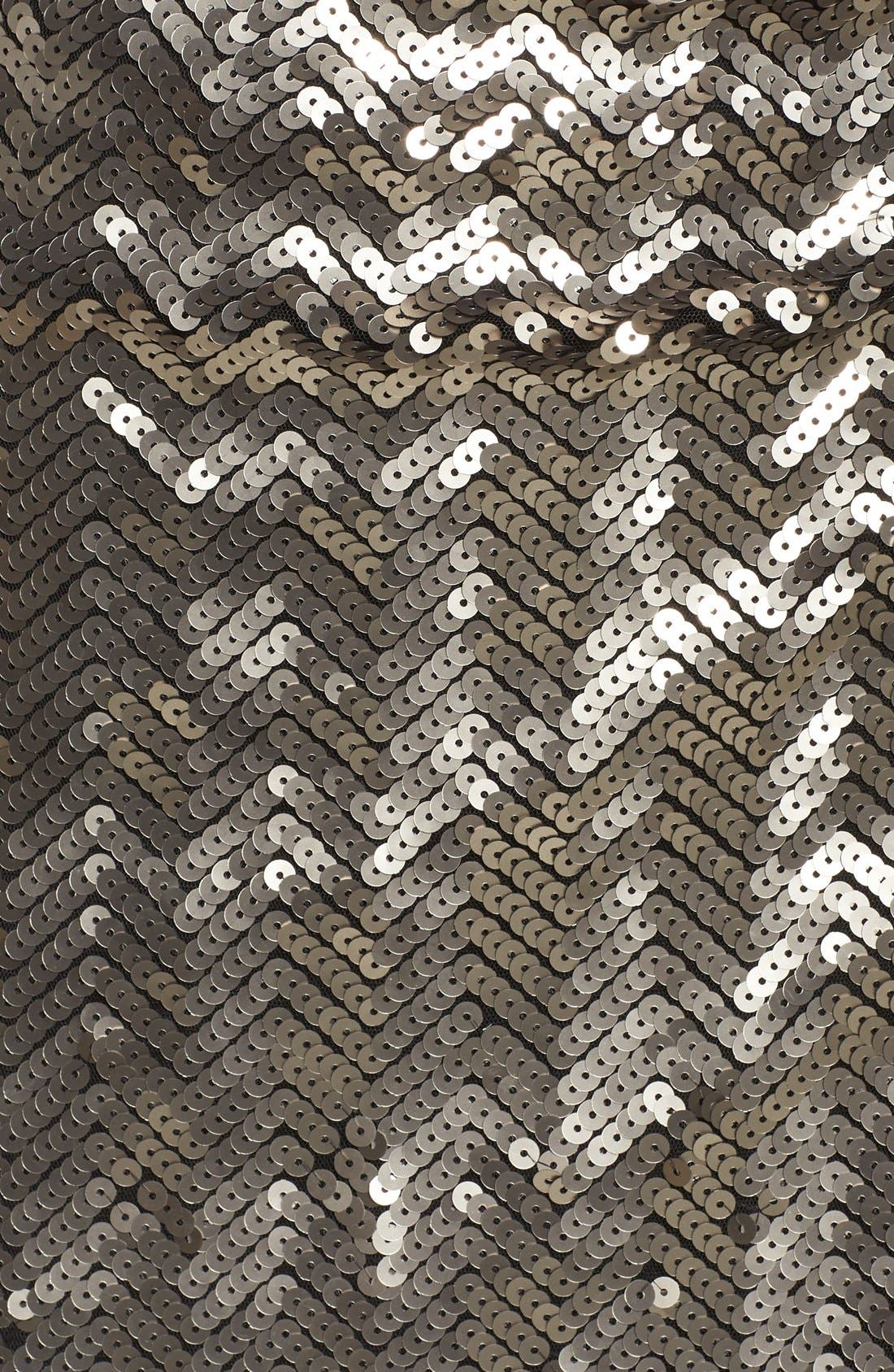 Alternate Image 6  - Adelyn Rae Asymmetrical Sequin Faux-Wrap Dress