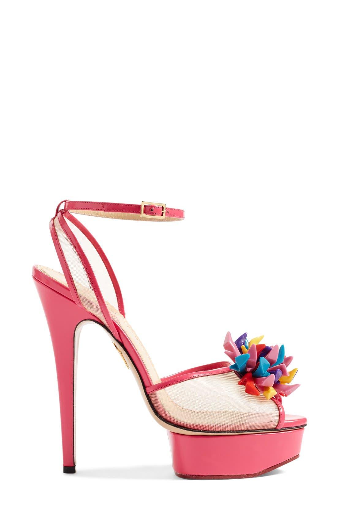 Alternate Image 4  - Charlotte Olympia x Barbie® Pomeline Peep Toe Sandal (Women)