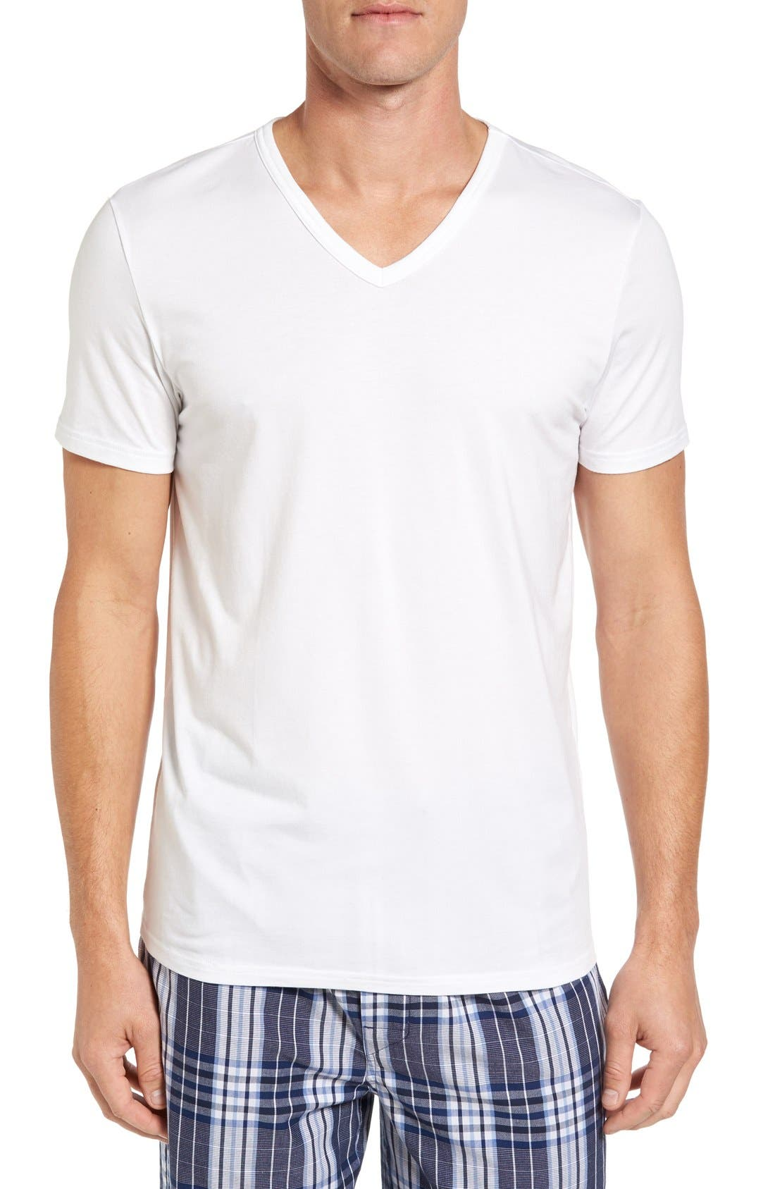 Main Image - Nordstrom Men's Shop Micromodal V-Neck T-Shirt