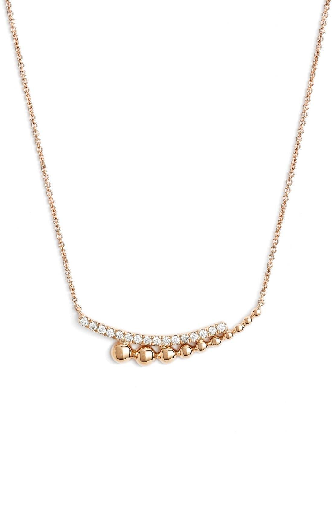 Alternate Image 1 Selected - Dana Rebecca Designs Poppy Rae Diamond Pendant Necklace