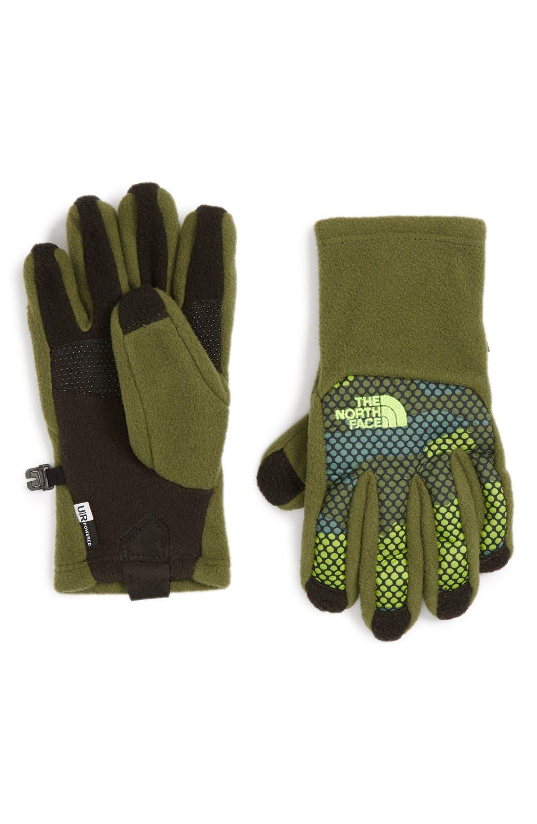 Main Image - The North Face 'Denali E-Tip' Gloves (Boys)