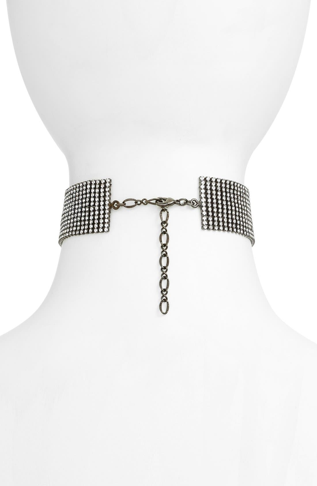 Alternate Image 2  - Cristabelle Multirow Chain Choker Necklace
