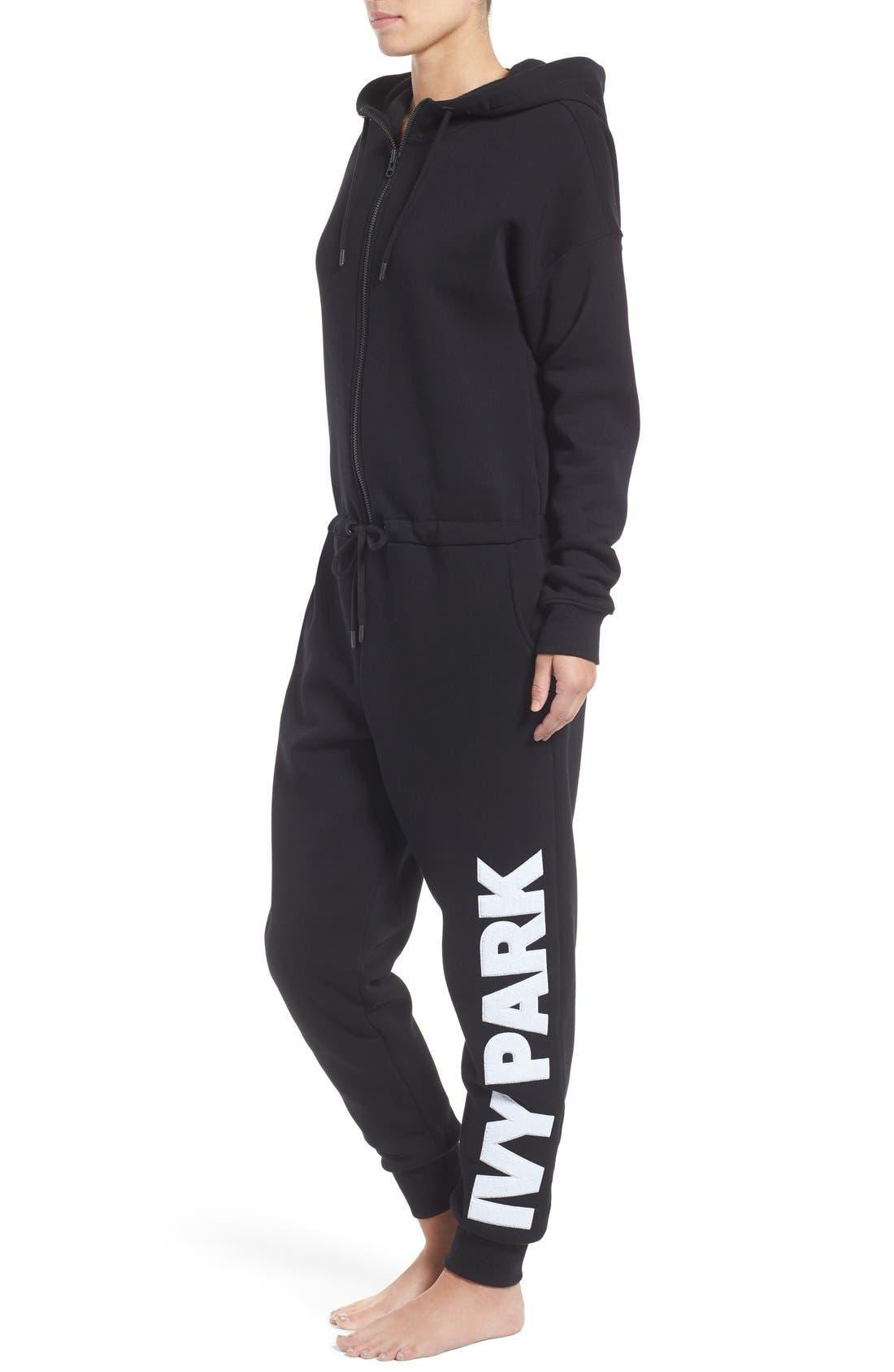 Alternate Image 3  - IVY PARK® Chenille Logo Fleece Jumpsuit