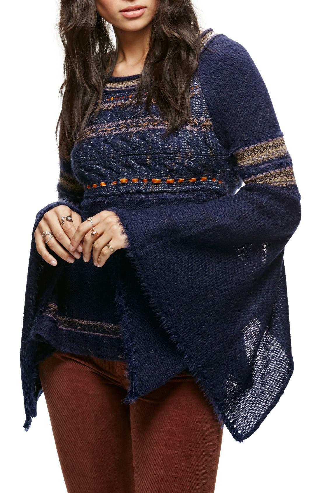 Main Image - Free People Craft Time Mixed Knit Sweater