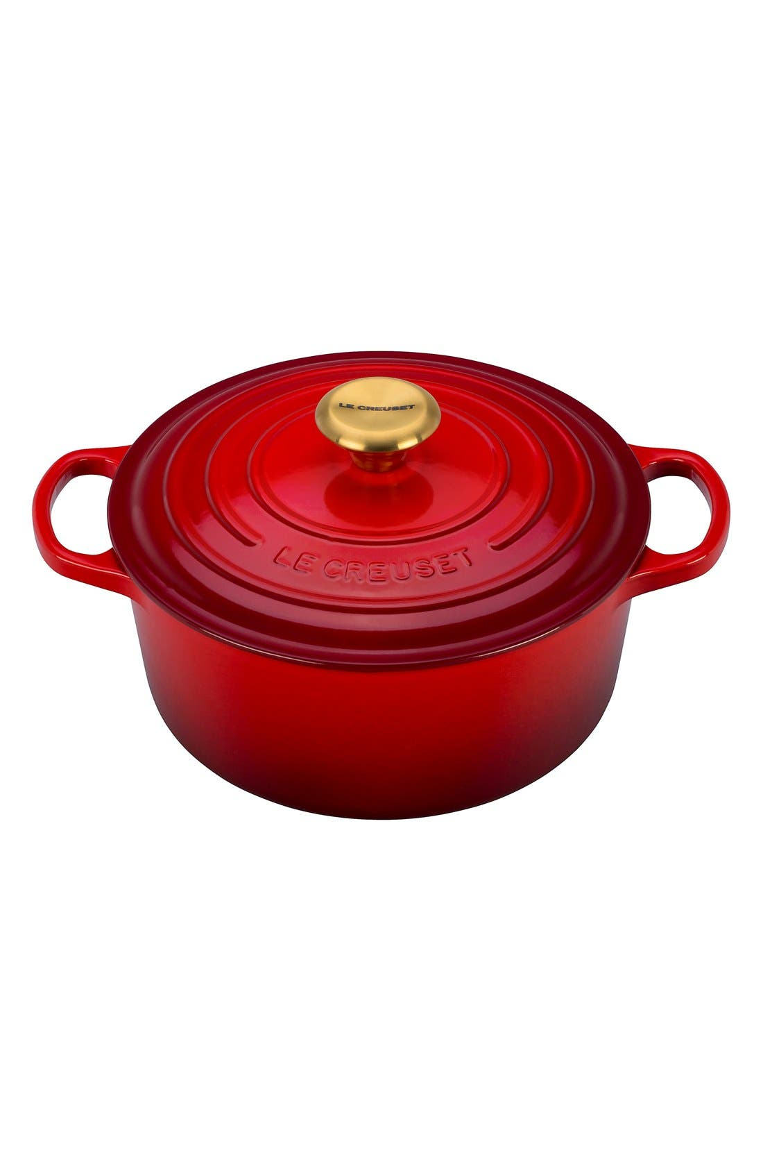 Le Creuset Gold Knob Collection 4 1/2 Quart Round French/Dutch Oven
