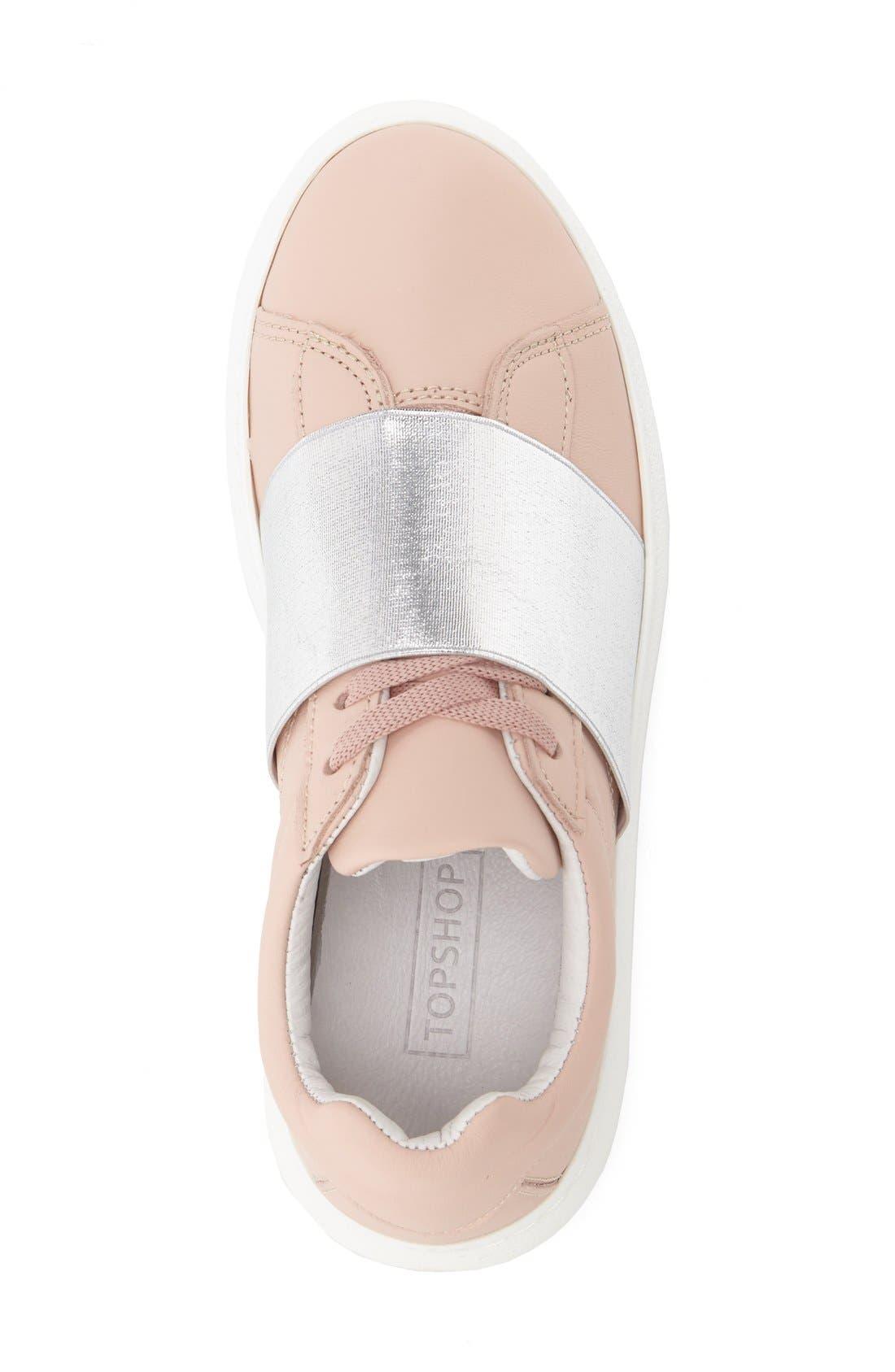 Alternate Image 3  - Topshop Turin Metallic Strap Platform Sneaker (Women)