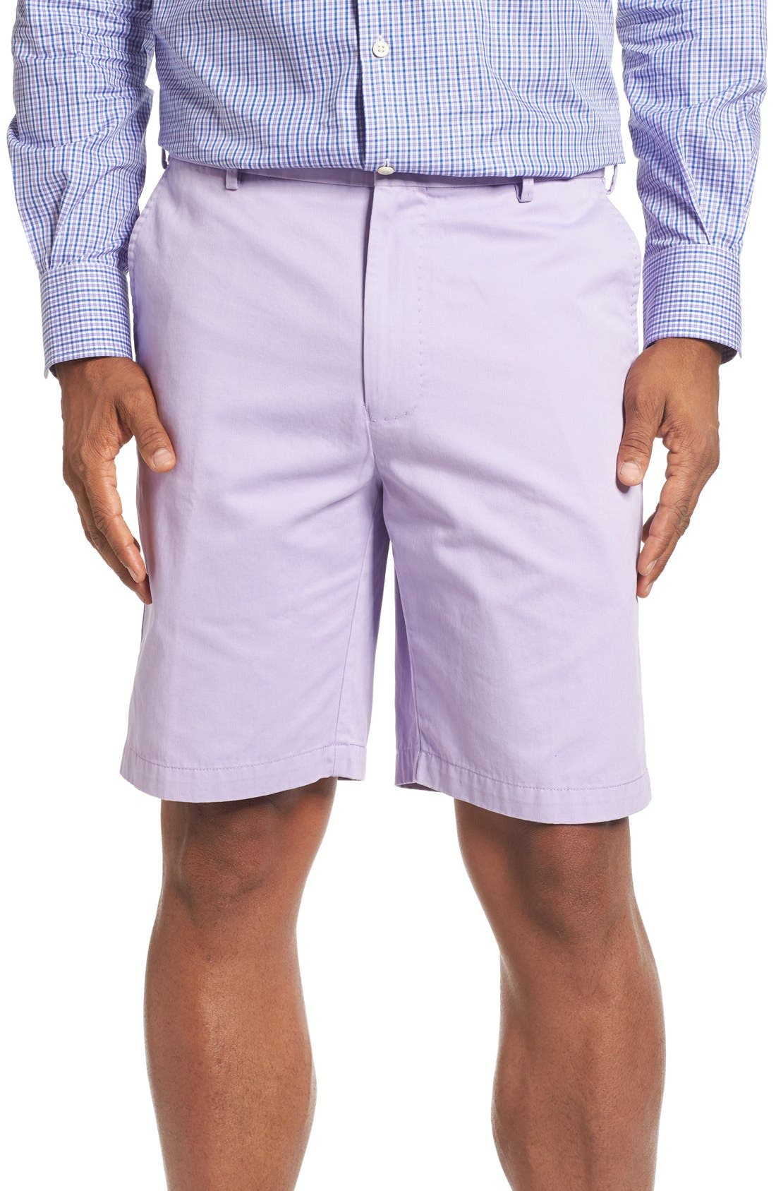 Peter Millar 'Winston' Washed Twill Flat Front Shorts