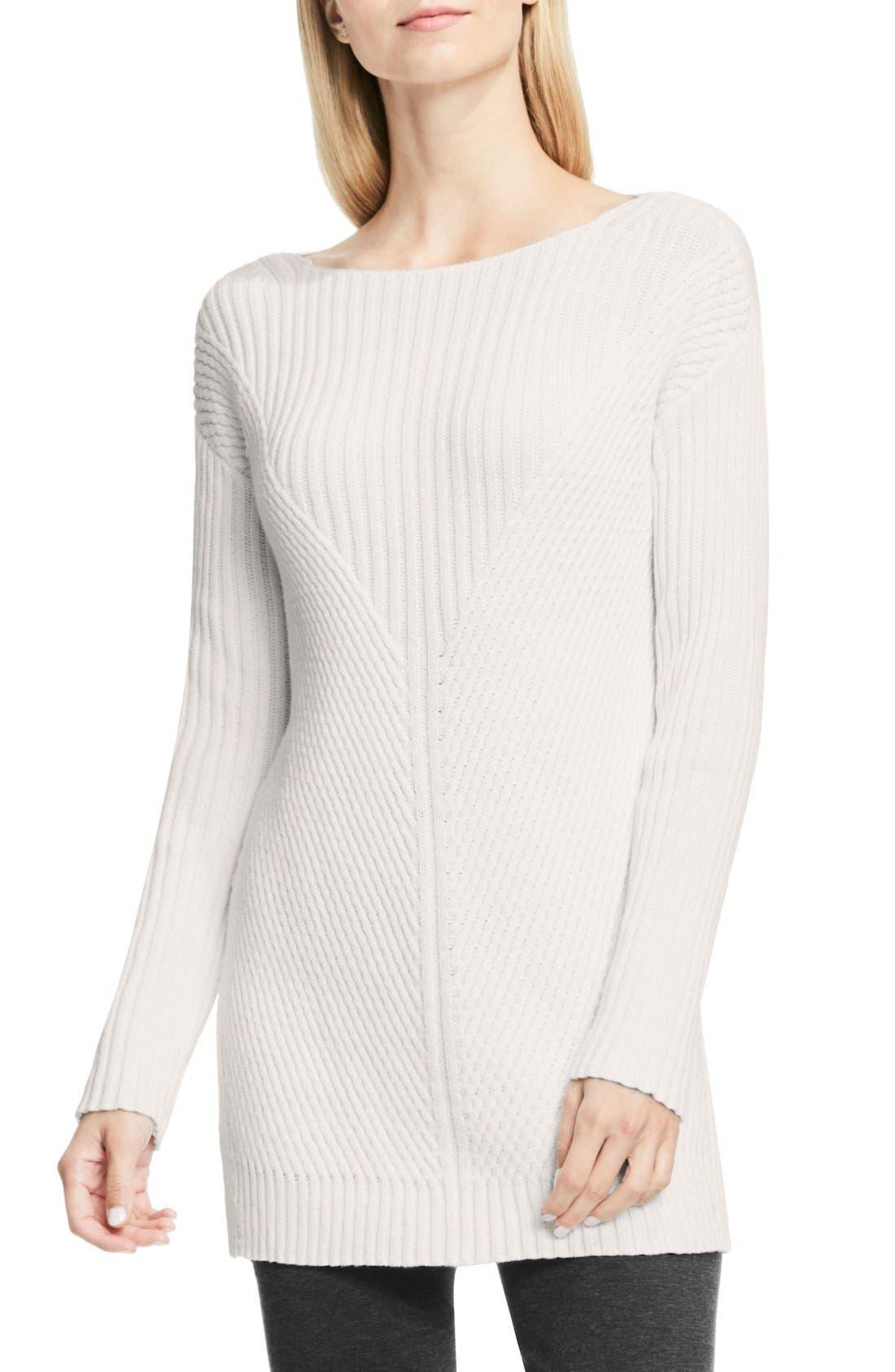 Main Image - Vince Camuto Rib Knit Long Sweater (Petite)