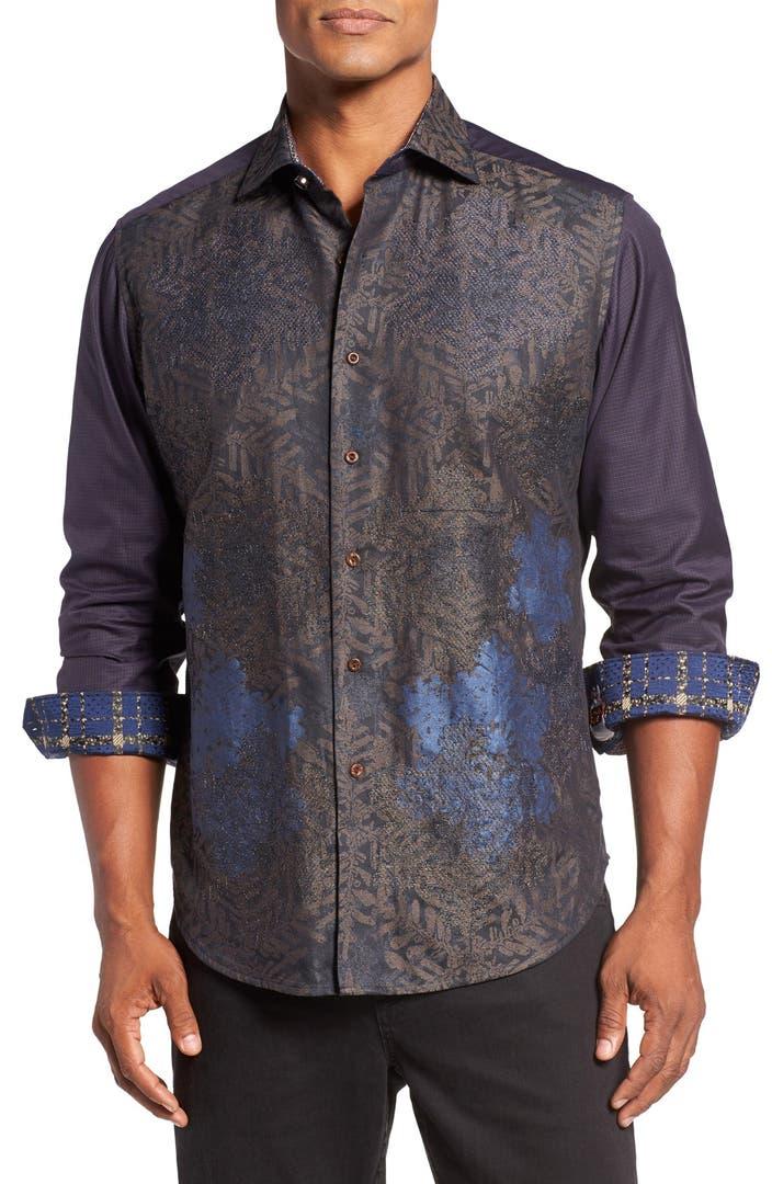 Robert graham classic fit snowflake jacquard sport shirt for Robert graham sport shirt