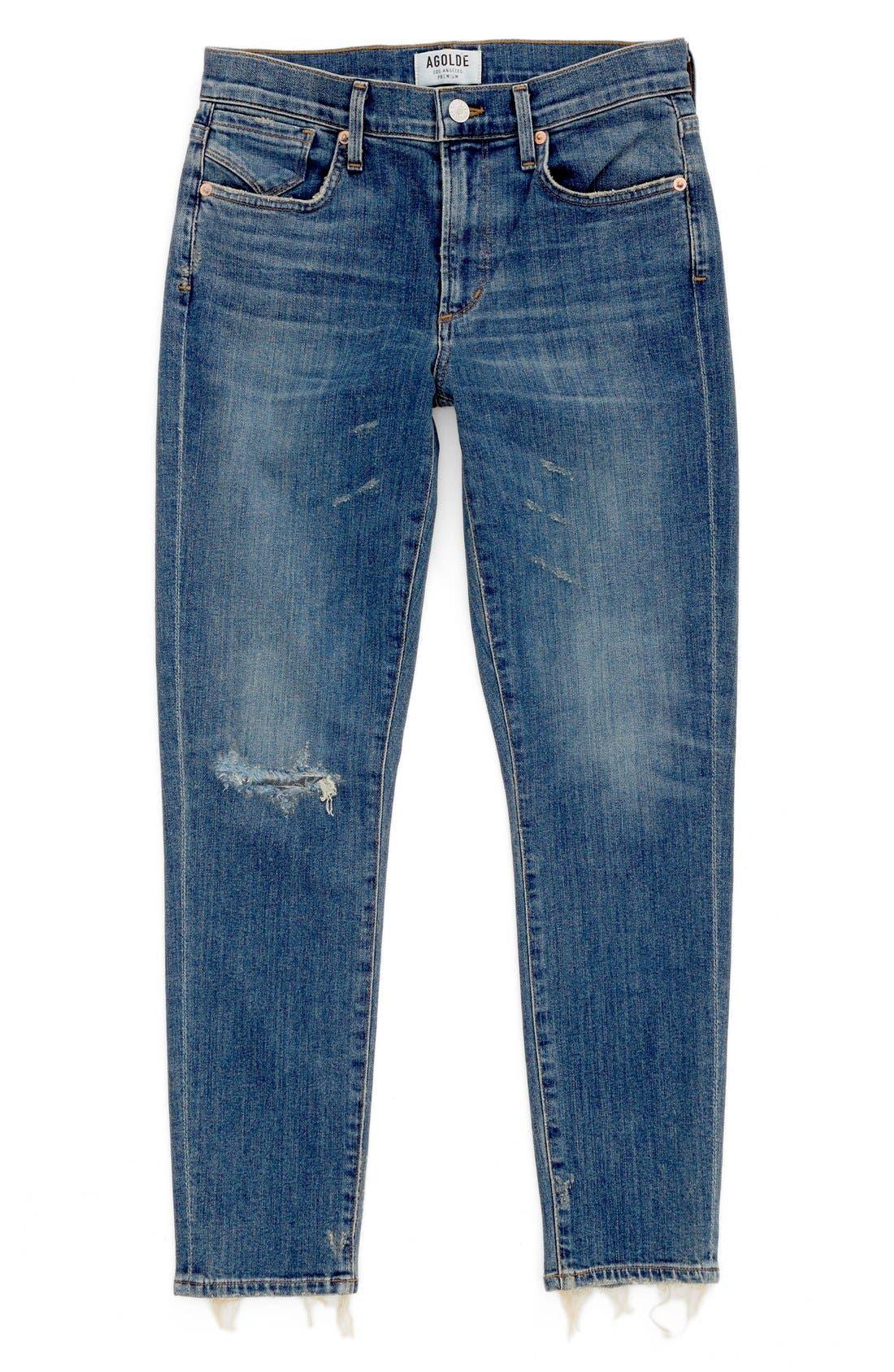 Main Image - AGOLDE Sophie Crop High Rise Skinny Jeans (Santa Fe) (Women)
