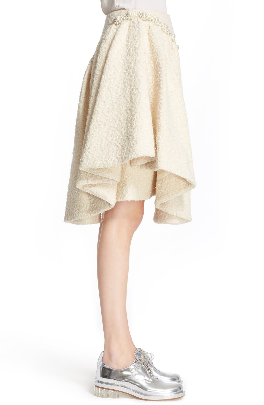 Alternate Image 5  - Simone Rocha Embellished Sparkle Tweed Skirt (Nordstrom Exclusive)