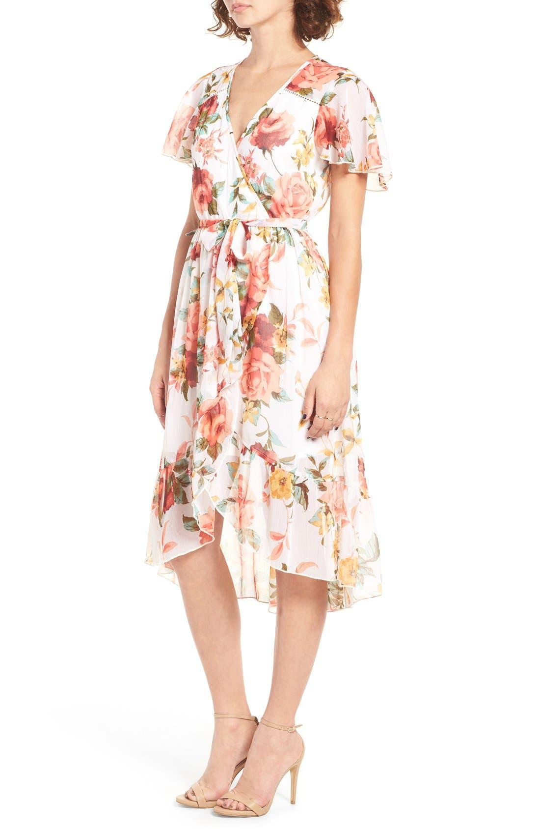 Alternate Image 3  - Band of Gypsies Floral Wrap Dress