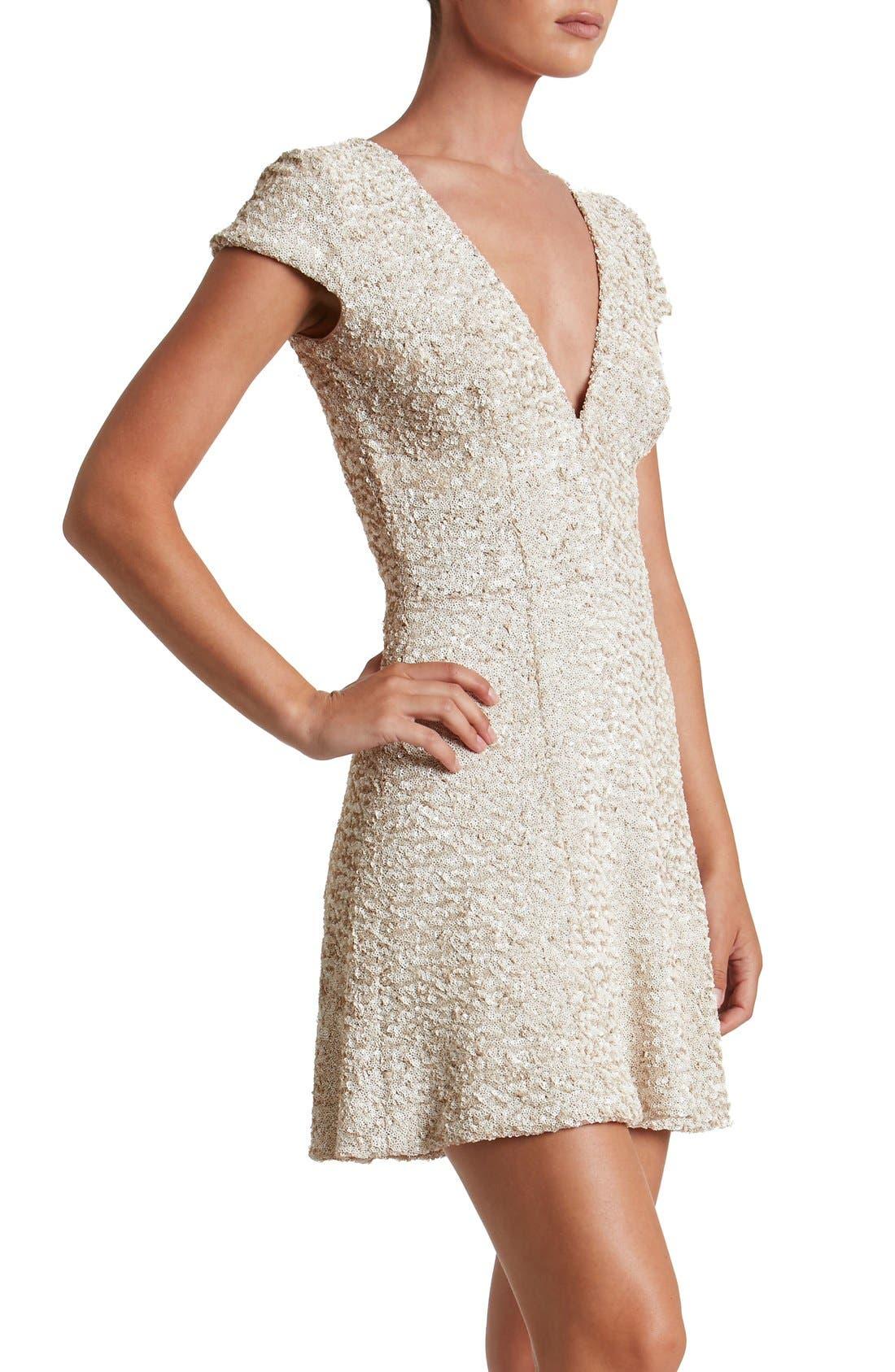 Alternate Image 5  - Dress the Population Georgina Sequin Fit & Flare Dress