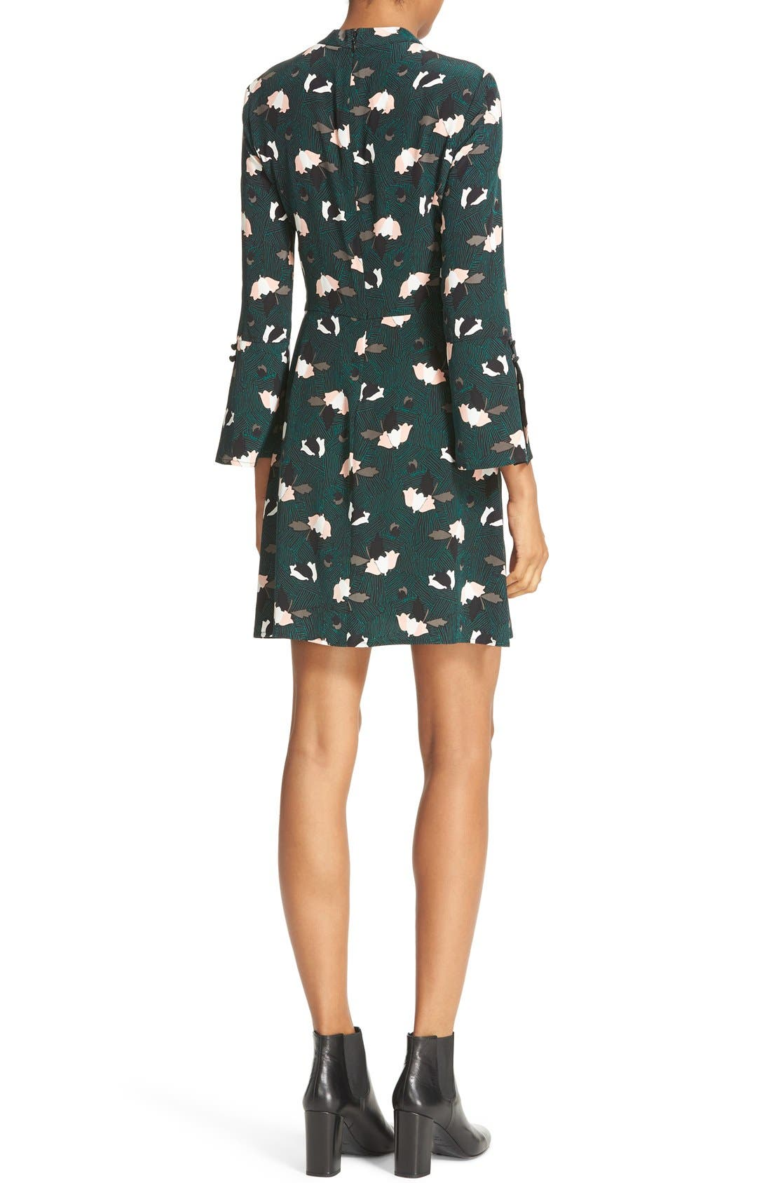 Alternate Image 2  - Derek Lam 10 Crosby Print silk Bell Sleeve Dress