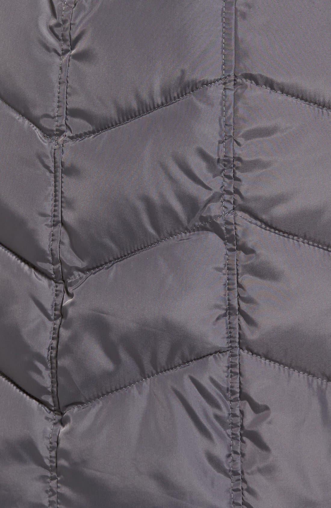 Alternate Image 5  - Rachel Roy Faux Fur Trim Quilted Coat with Bib