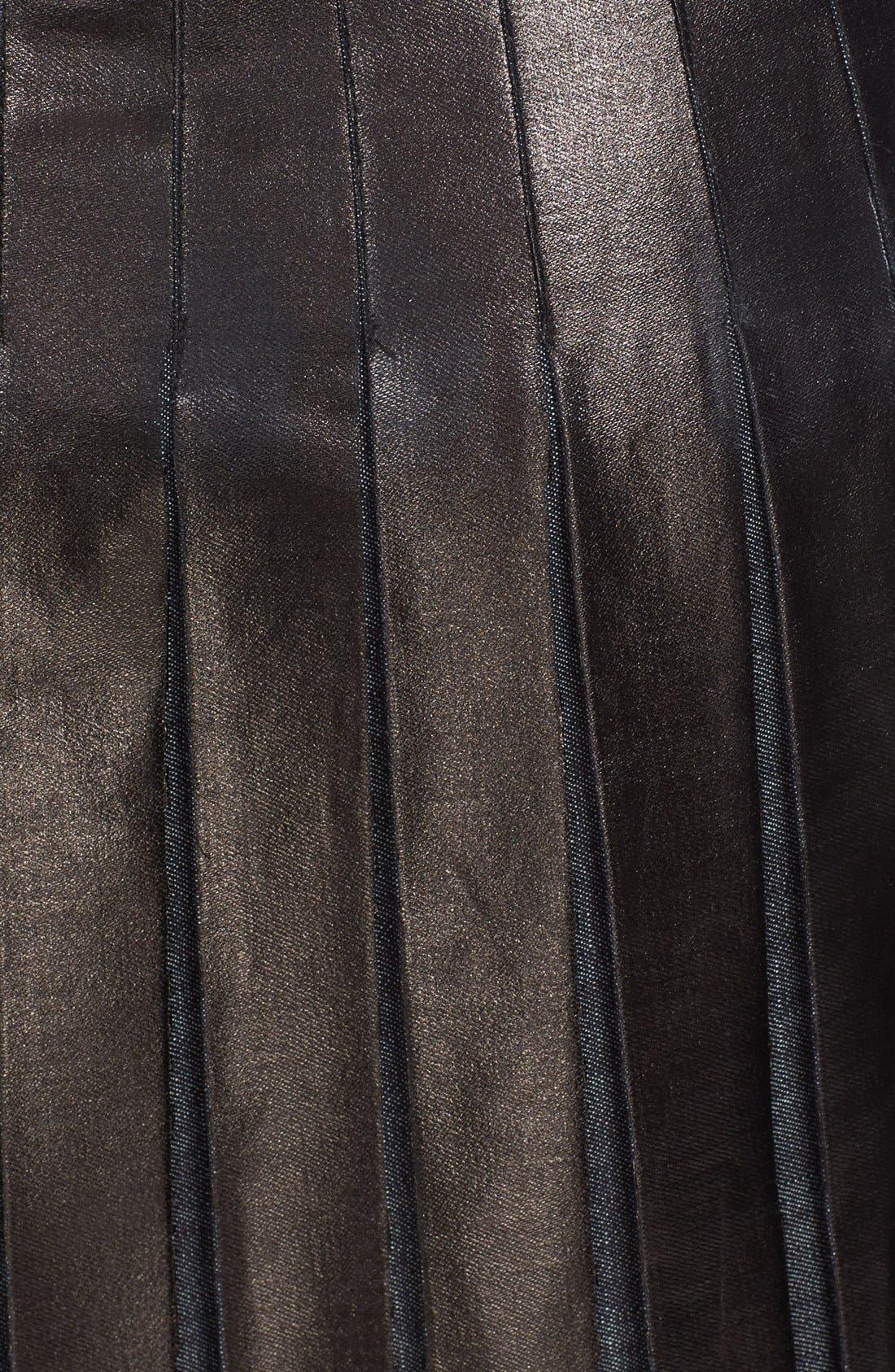 Alternate Image 3  - Tomas Maier Pleated Lacquered Denim Skirt