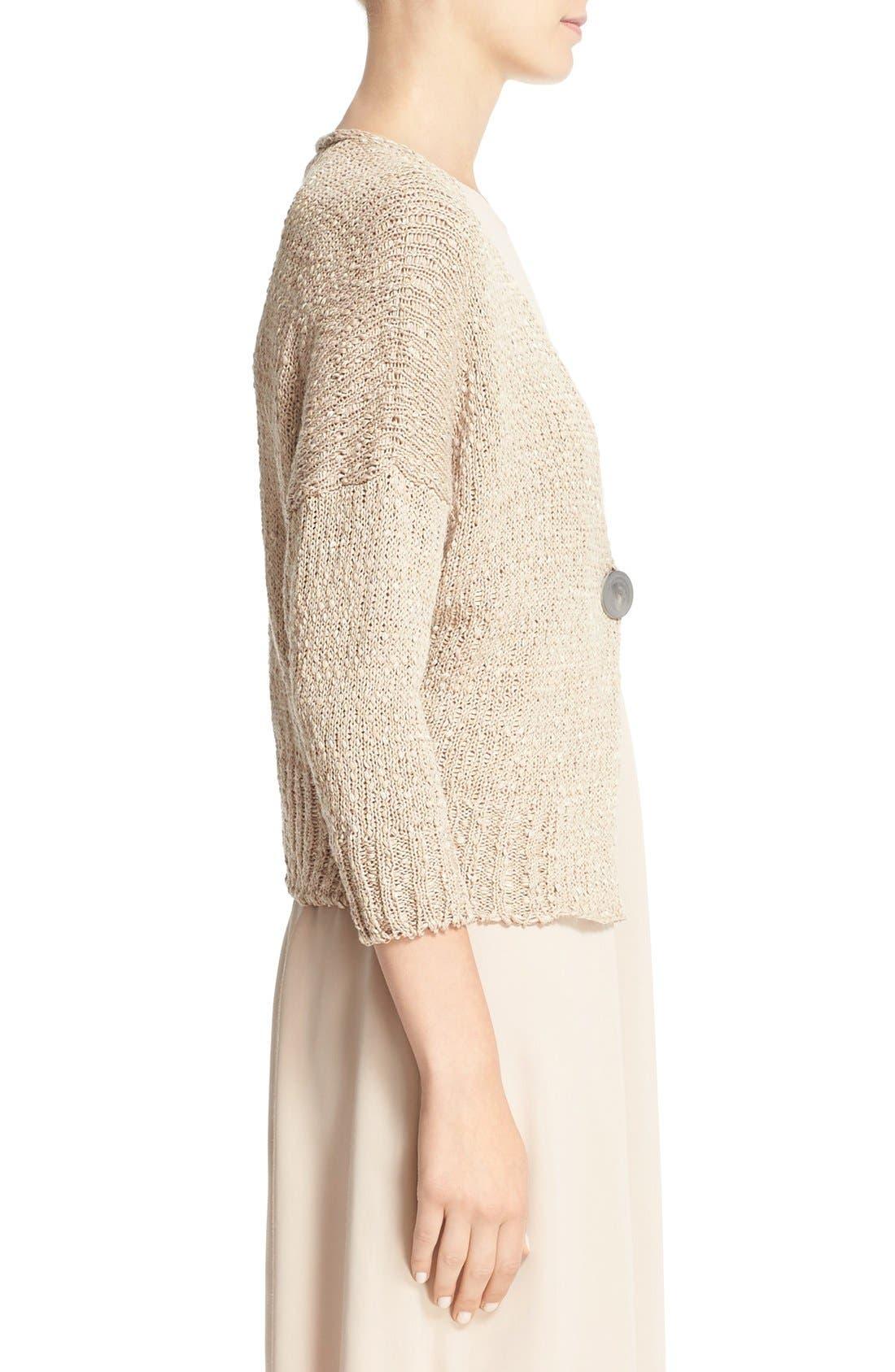 Alternate Image 5  - Fabiana Filippi Mixed Weave Cotton Blend Cardigan