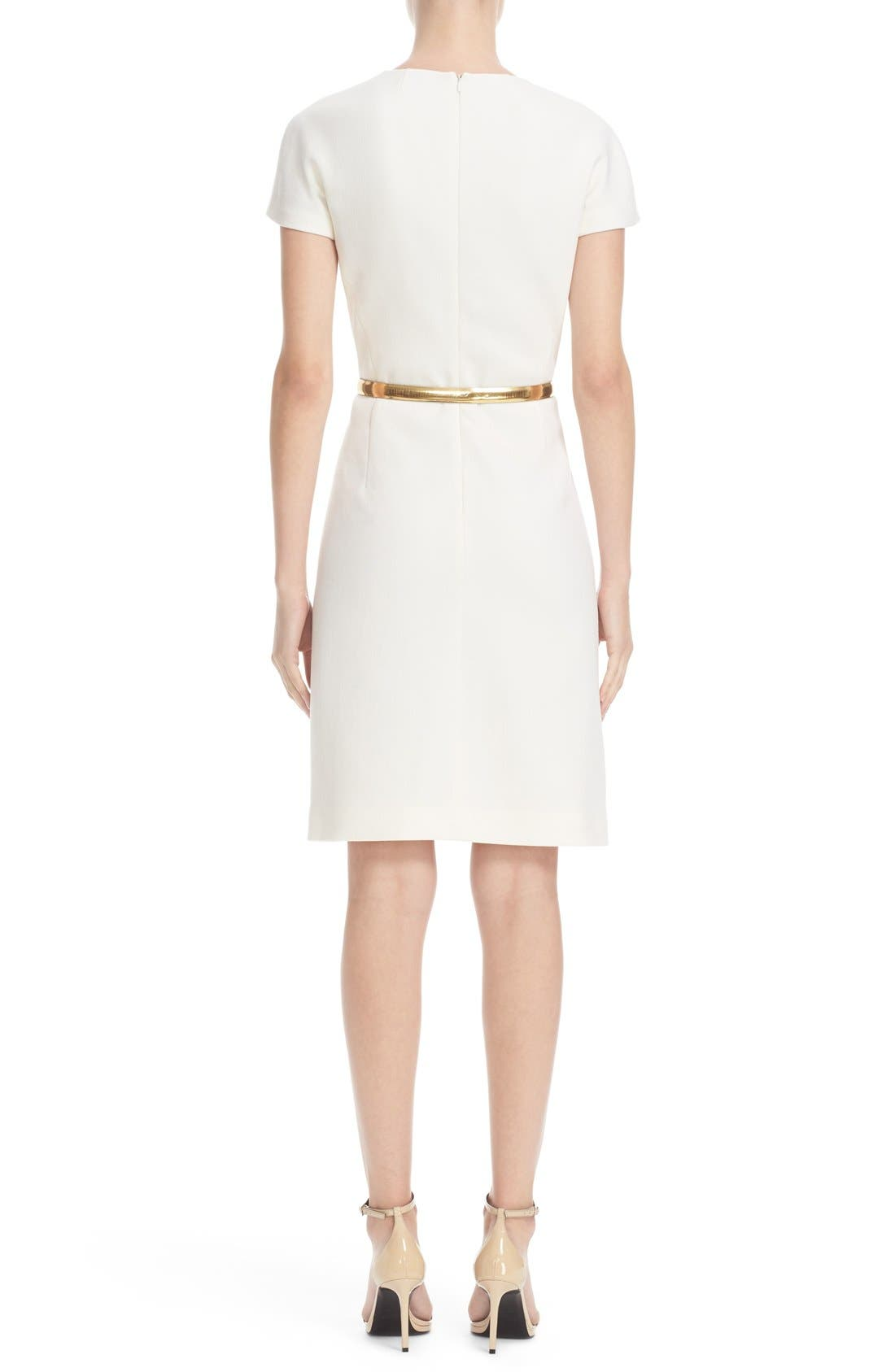 Alternate Image 2  - Michael Kors Stretch Wool Crepe Dress